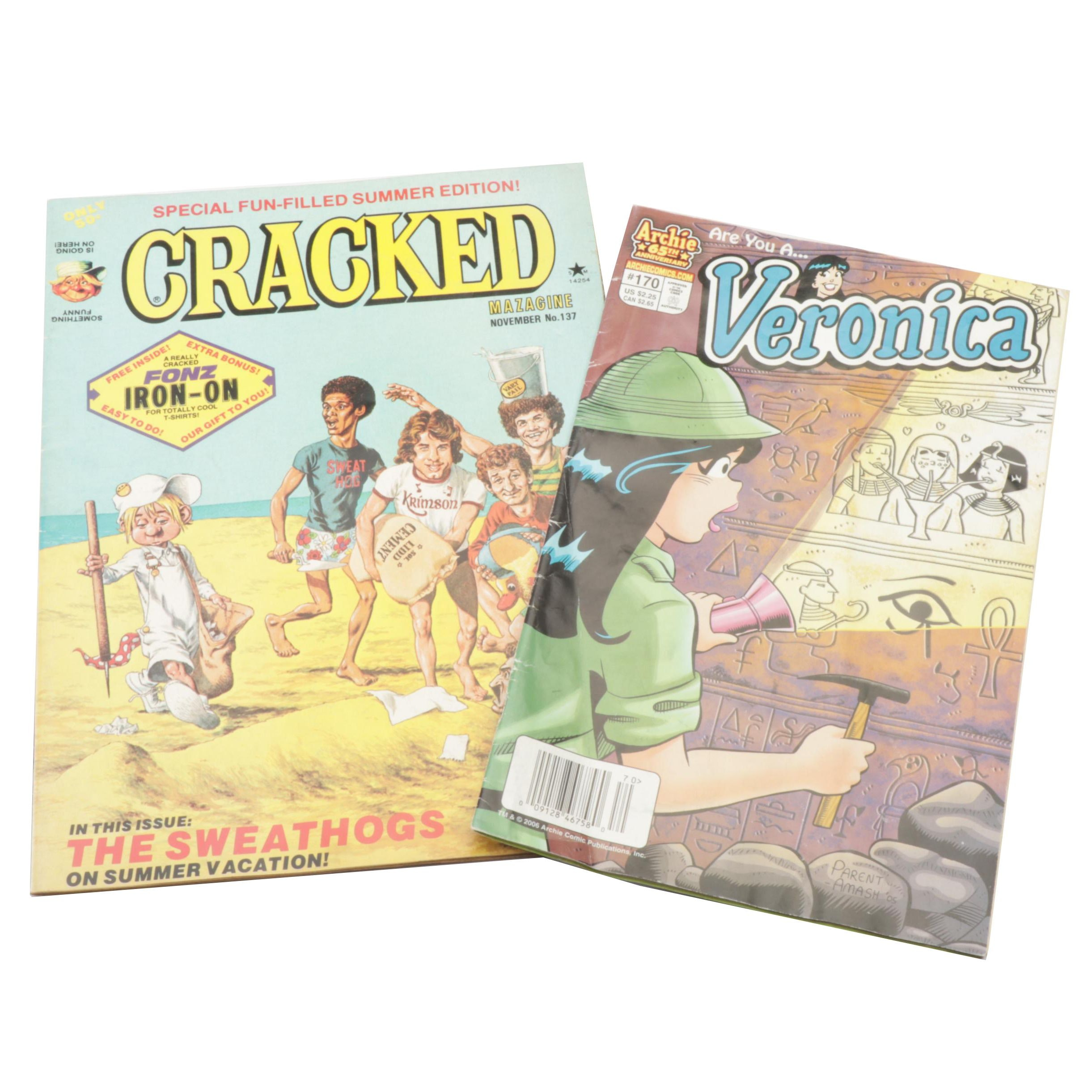 """Cracked"" Magazine Summer Edition No. 137 and ""Veronica"" No. 170"