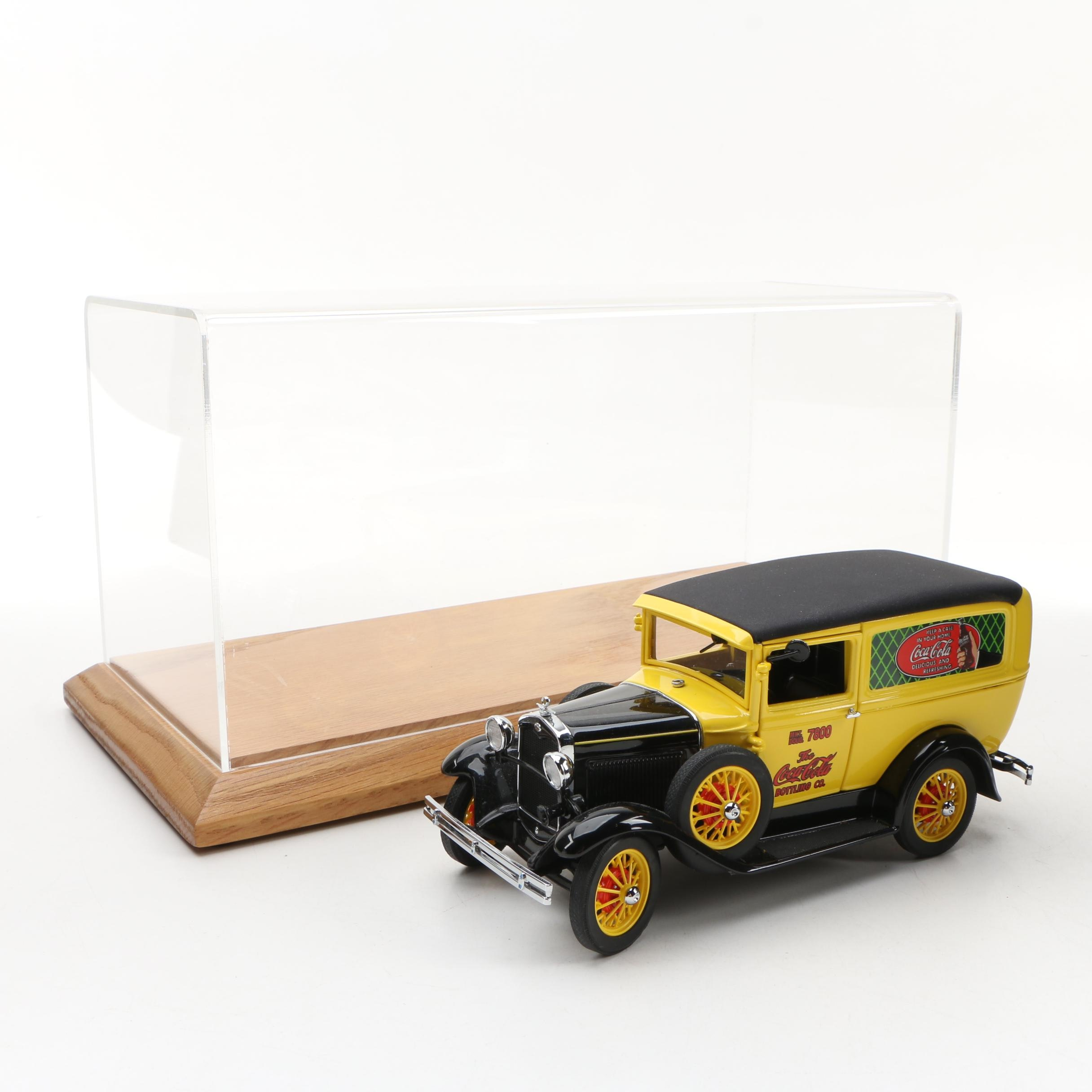 Danbury Mint Die-Cast 1931 Ford Coca-Cola Delivery Truck with Display Case