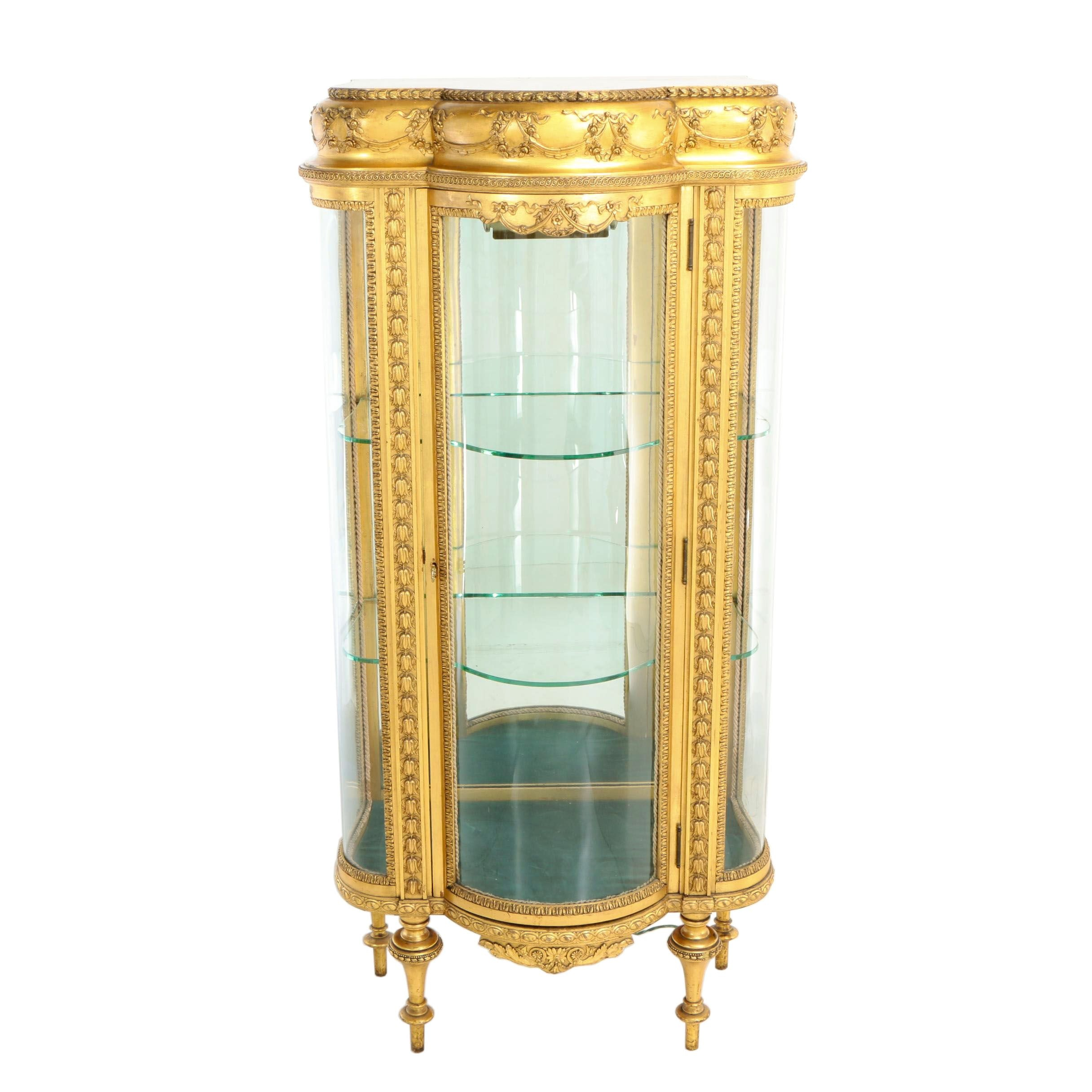 Louis XVI Style Giltwood Vitrine, Early 20th Century