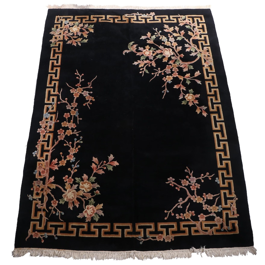 Hand-Knotted Chinese Wool Room Sized Rug