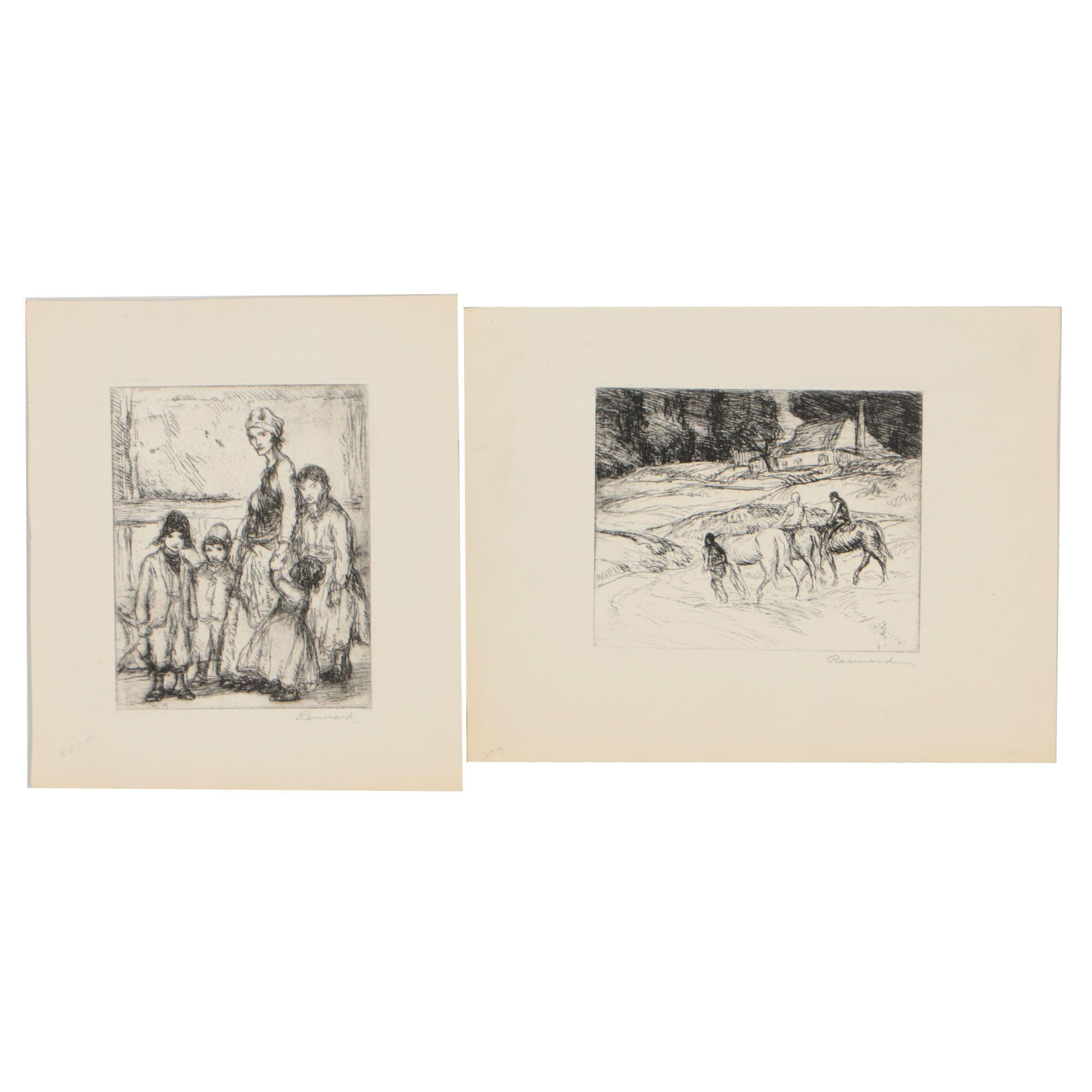 George Renouard Early 20th Century Etchings