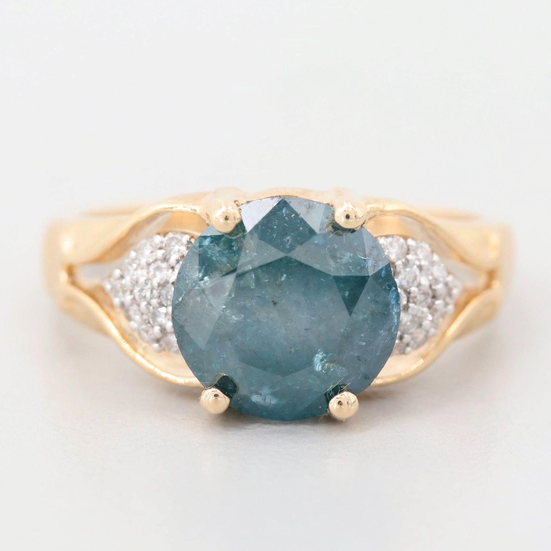 14K Yellow Gold 3.12 CTW Diamond Ring