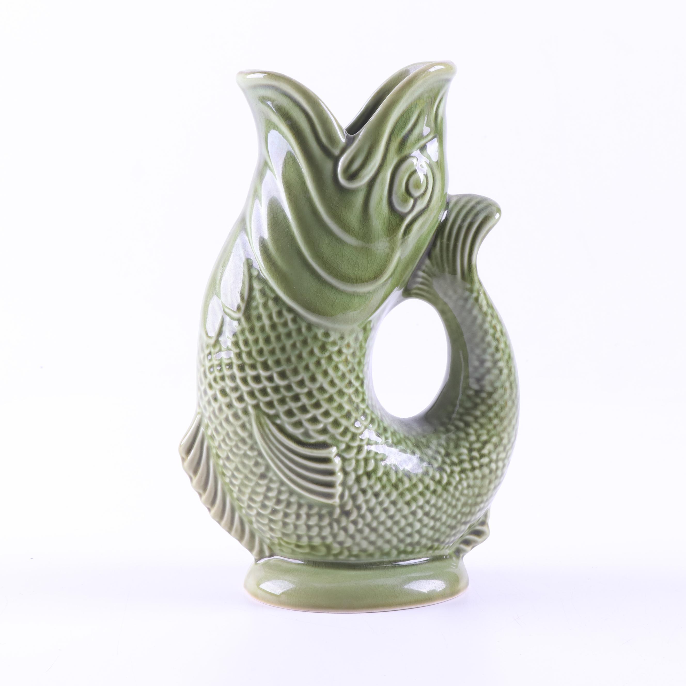 Dartmouth Pottery Glazed Earthenware Gurgling Fish Vase