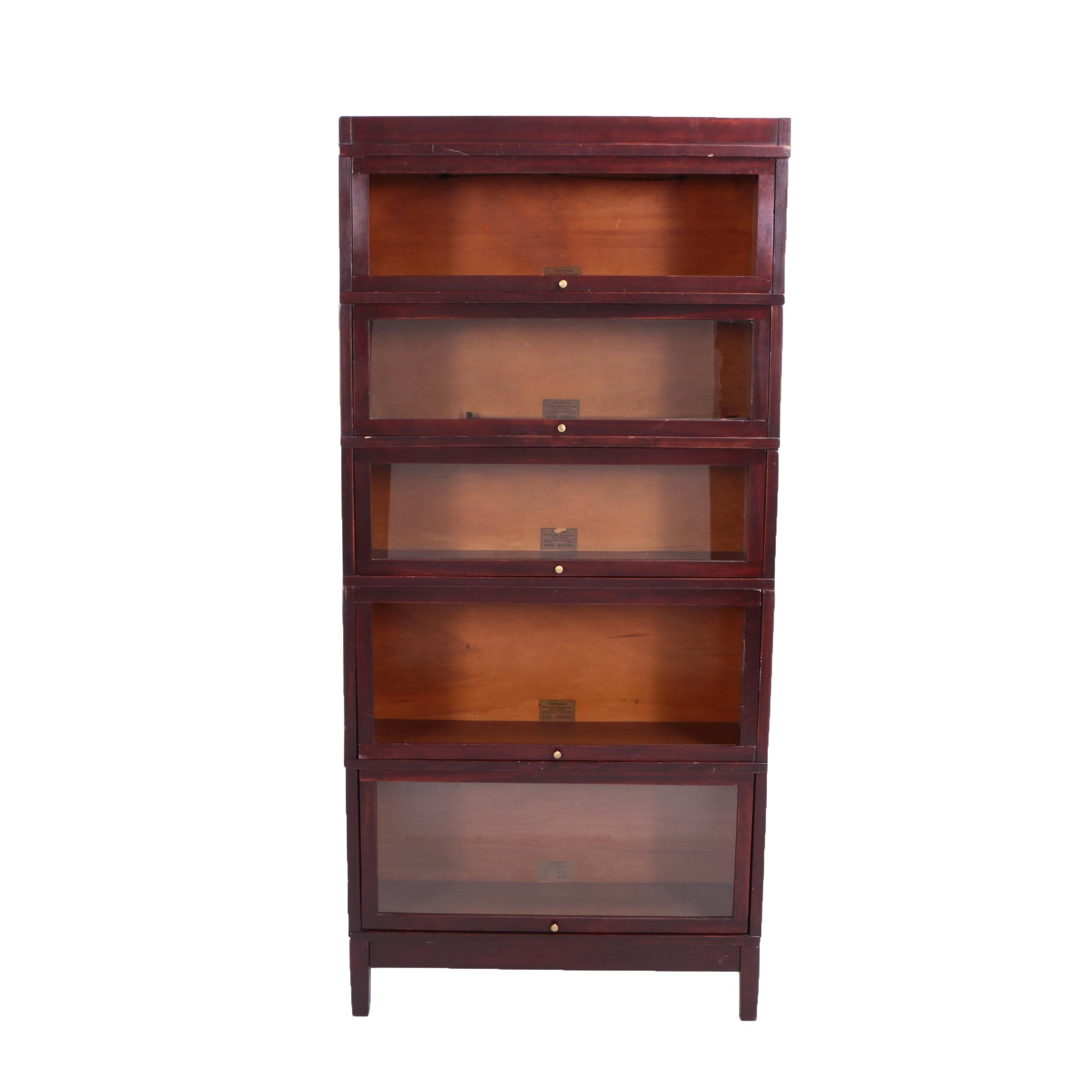 """Globe-Wernicke """"Universal"""" Sectional Barrister's Bookcase in Mahogany Finish"""