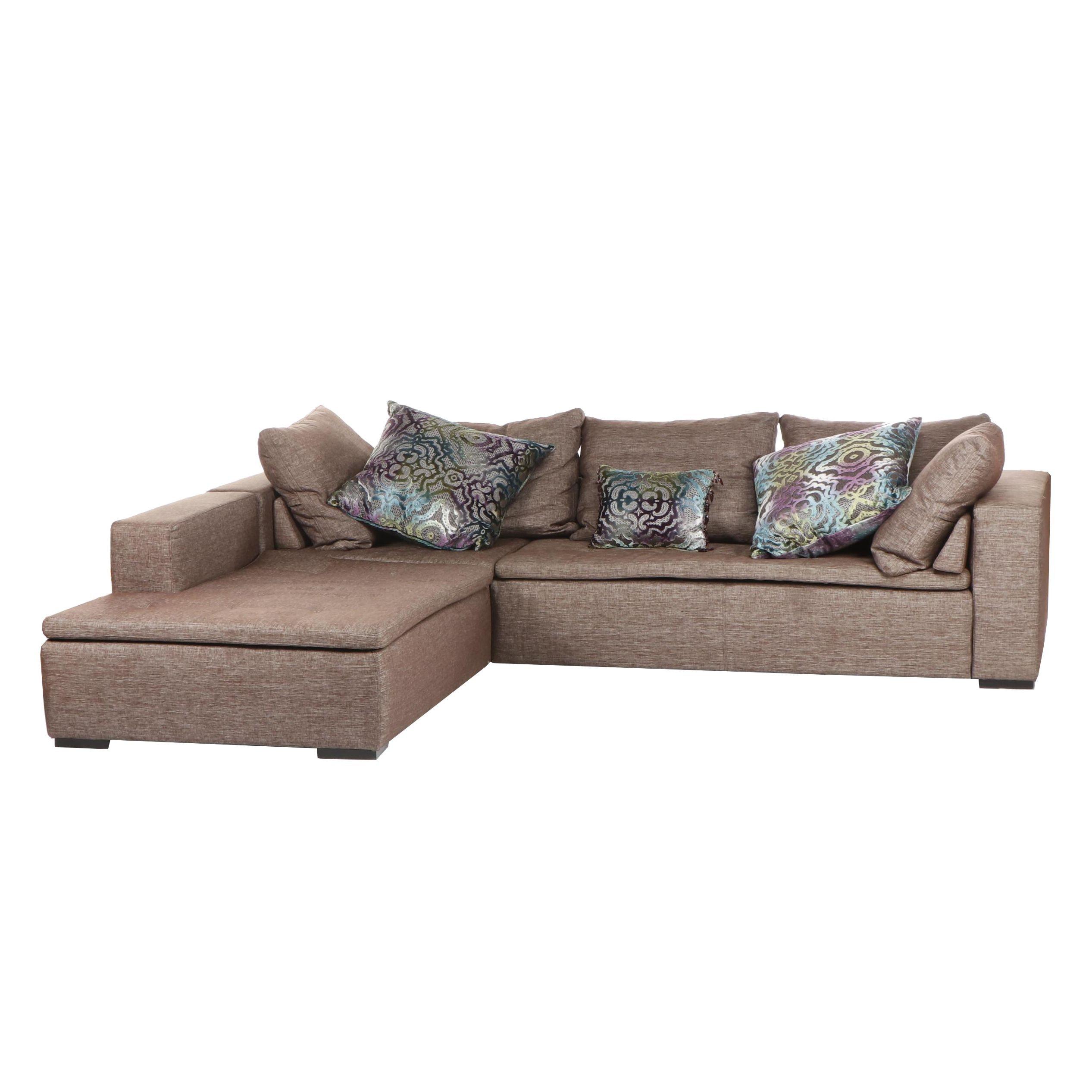 "Boconcept ""Mezzo"" Contemporary Modern Gray Sectional Corner Sofa"