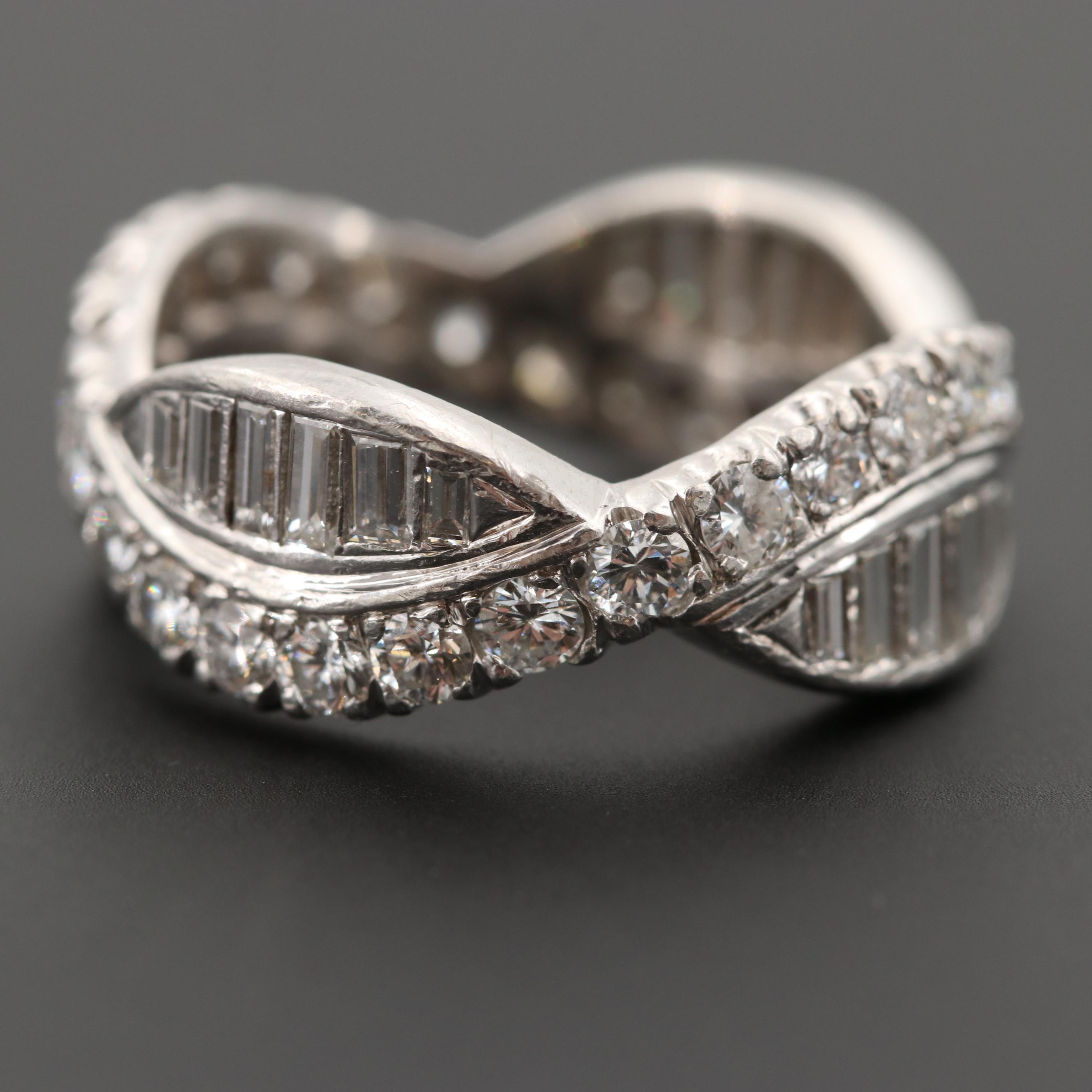 Platinum 2.05 CTW Diamond Ring