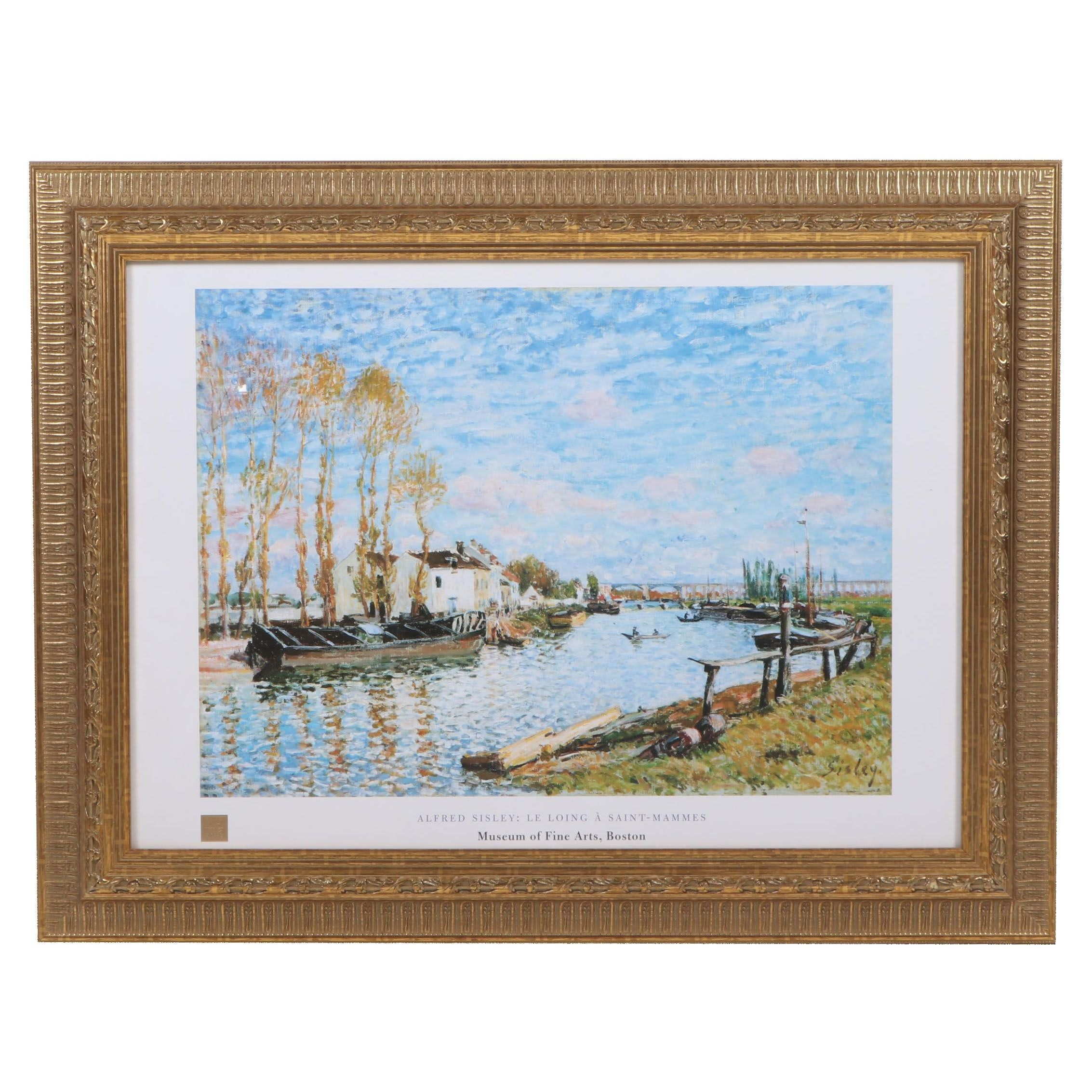 """Offset Lithograph after Alfred Sisley """"Le Loing A Saint-Mammes"""" Museum Poster"""