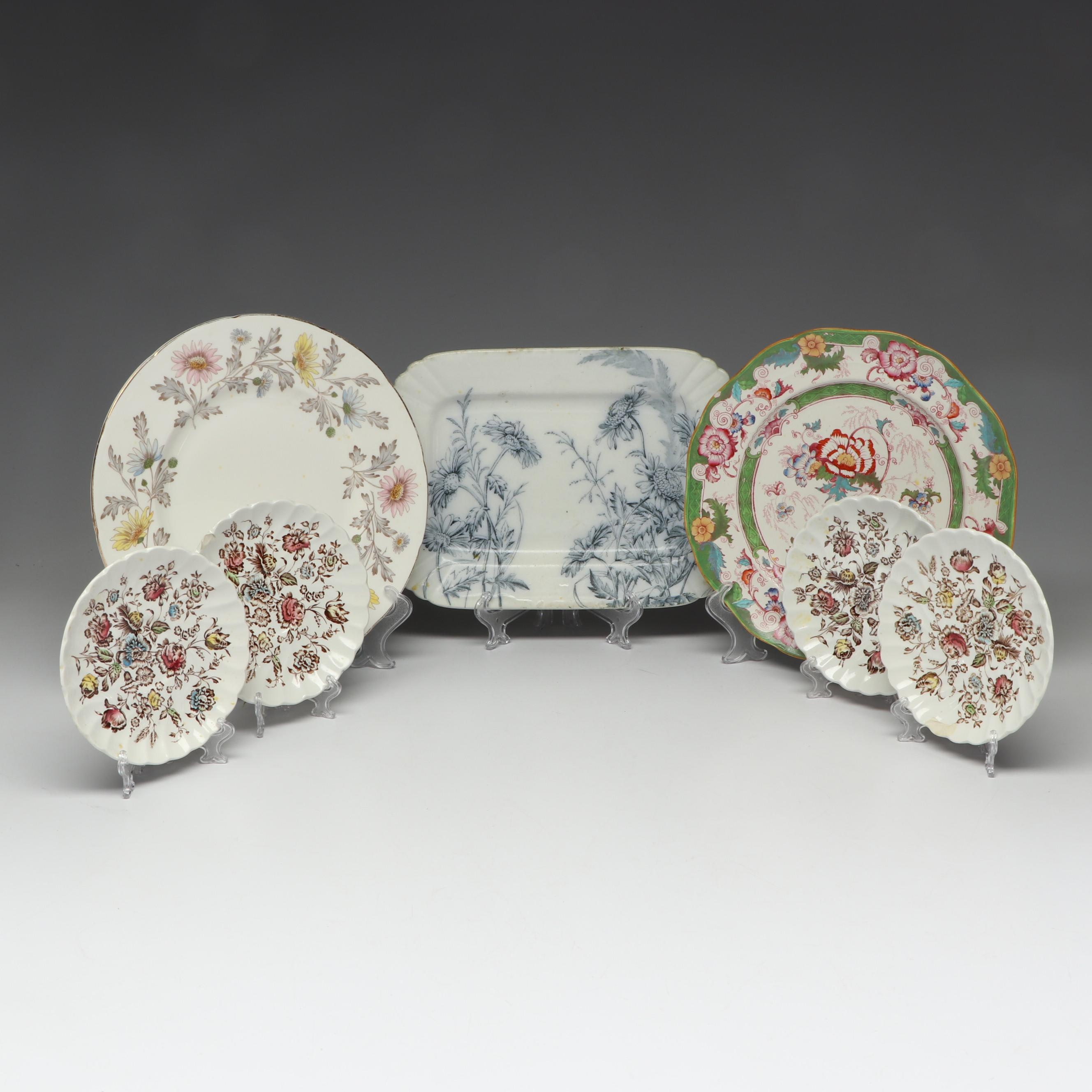 Antique and Vintage English Plates with Johnson Bros and More