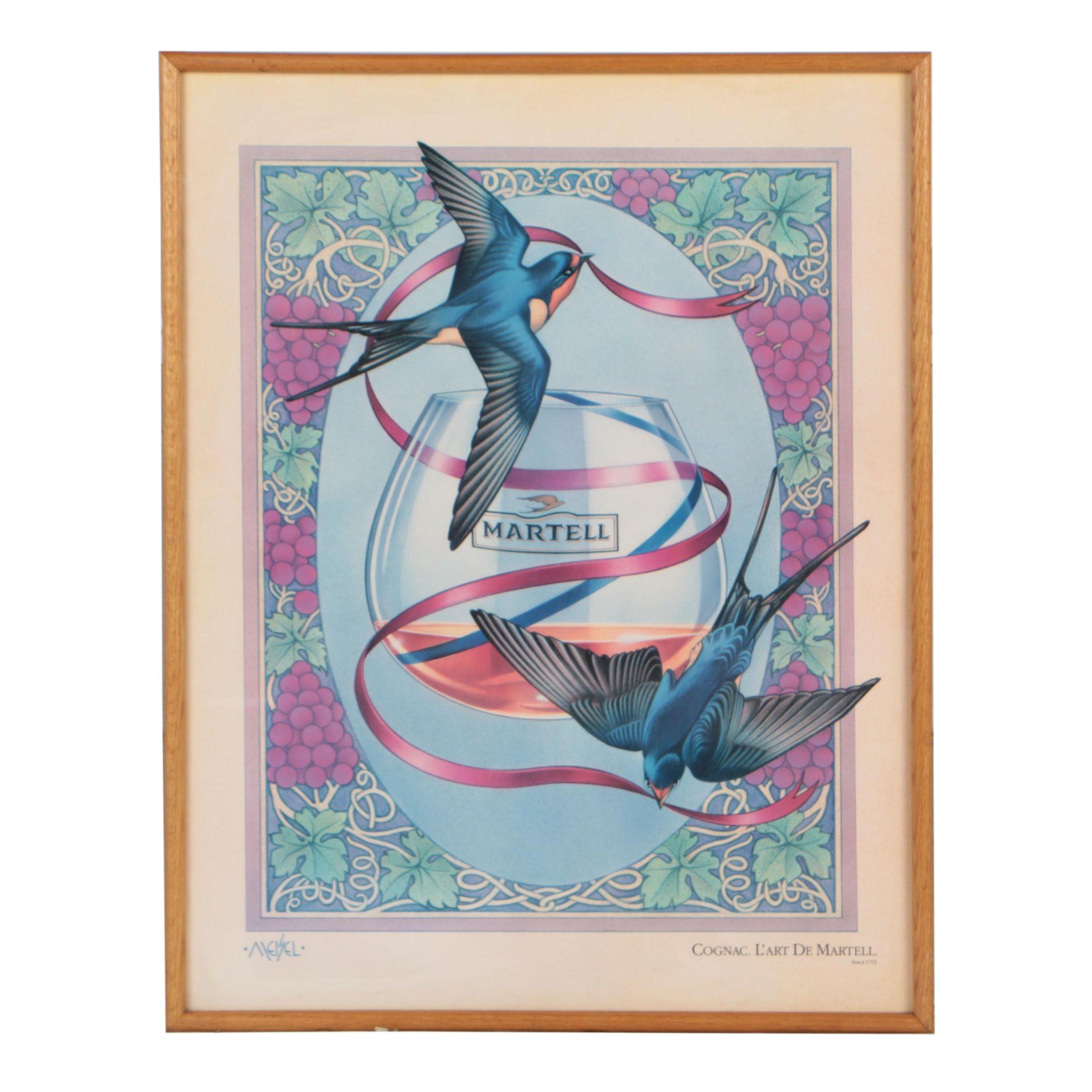 Martell Cognac Advertisement Offset Lithograph Poster