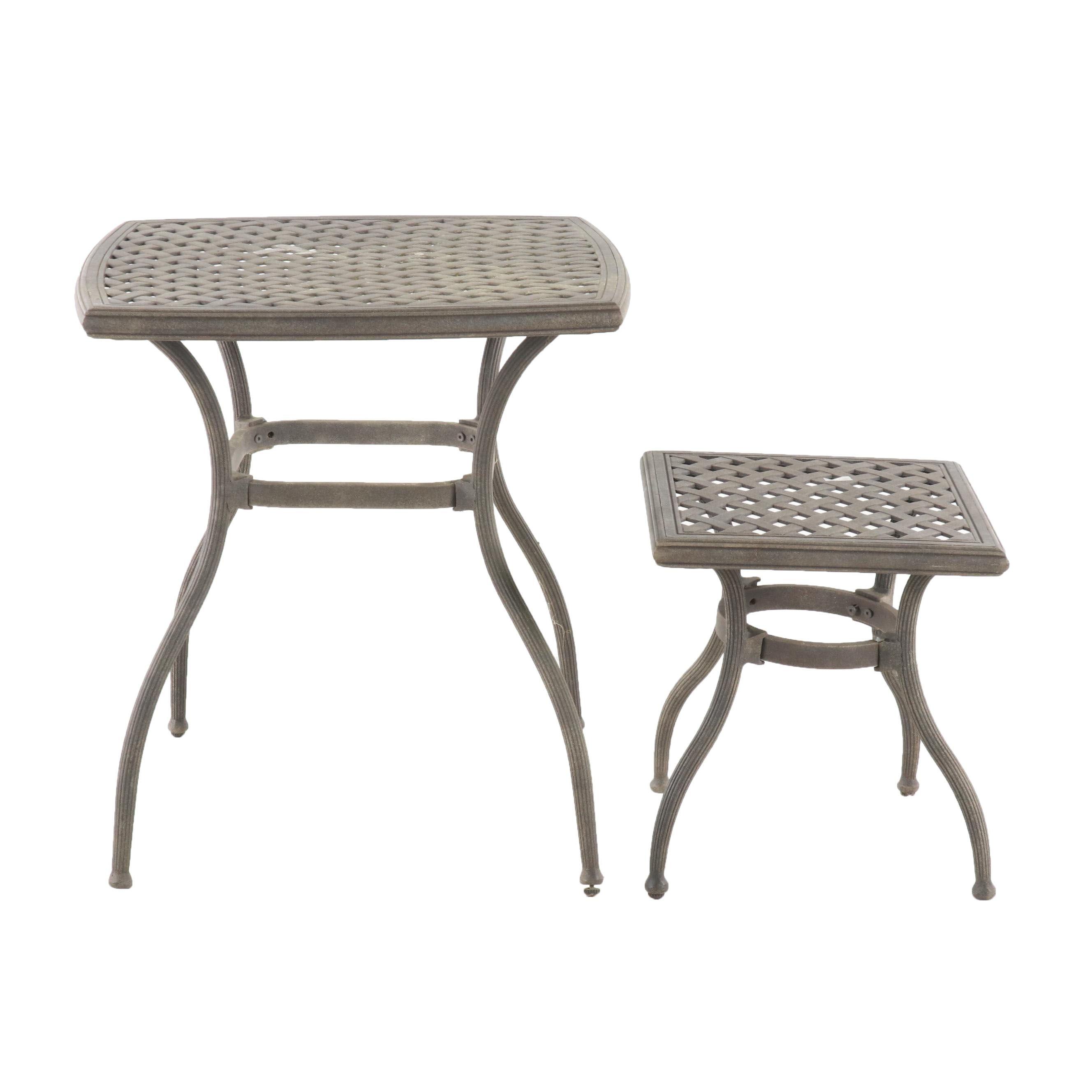 Garden Treasures Classics Metal Side Patio Tables, Contemporary