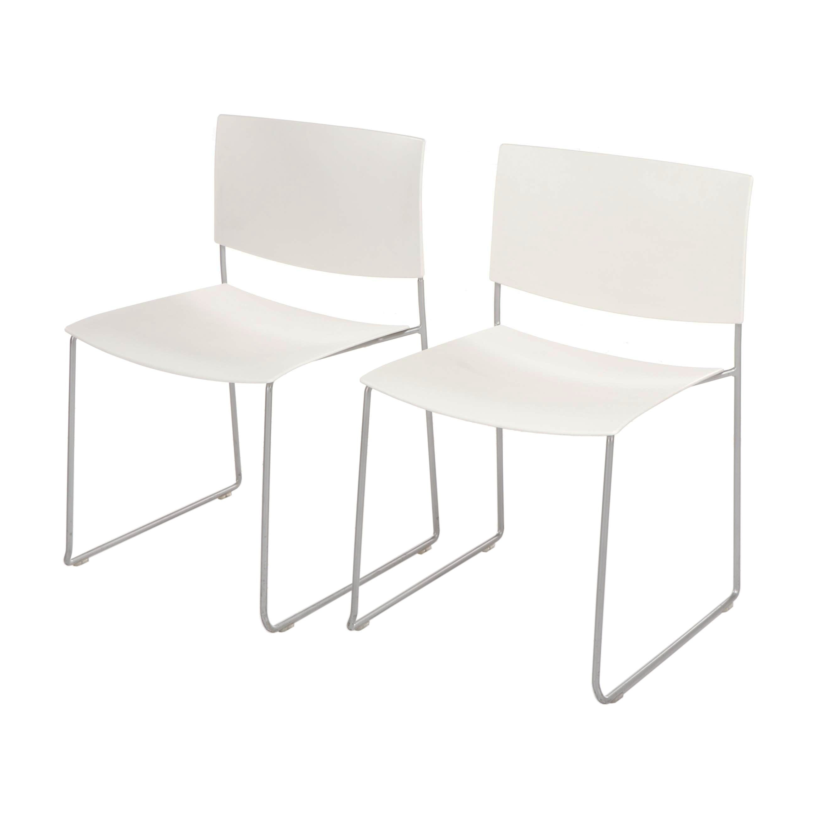 Andreu World Spain Modern Style Plastic and Metal Stacking Chairs