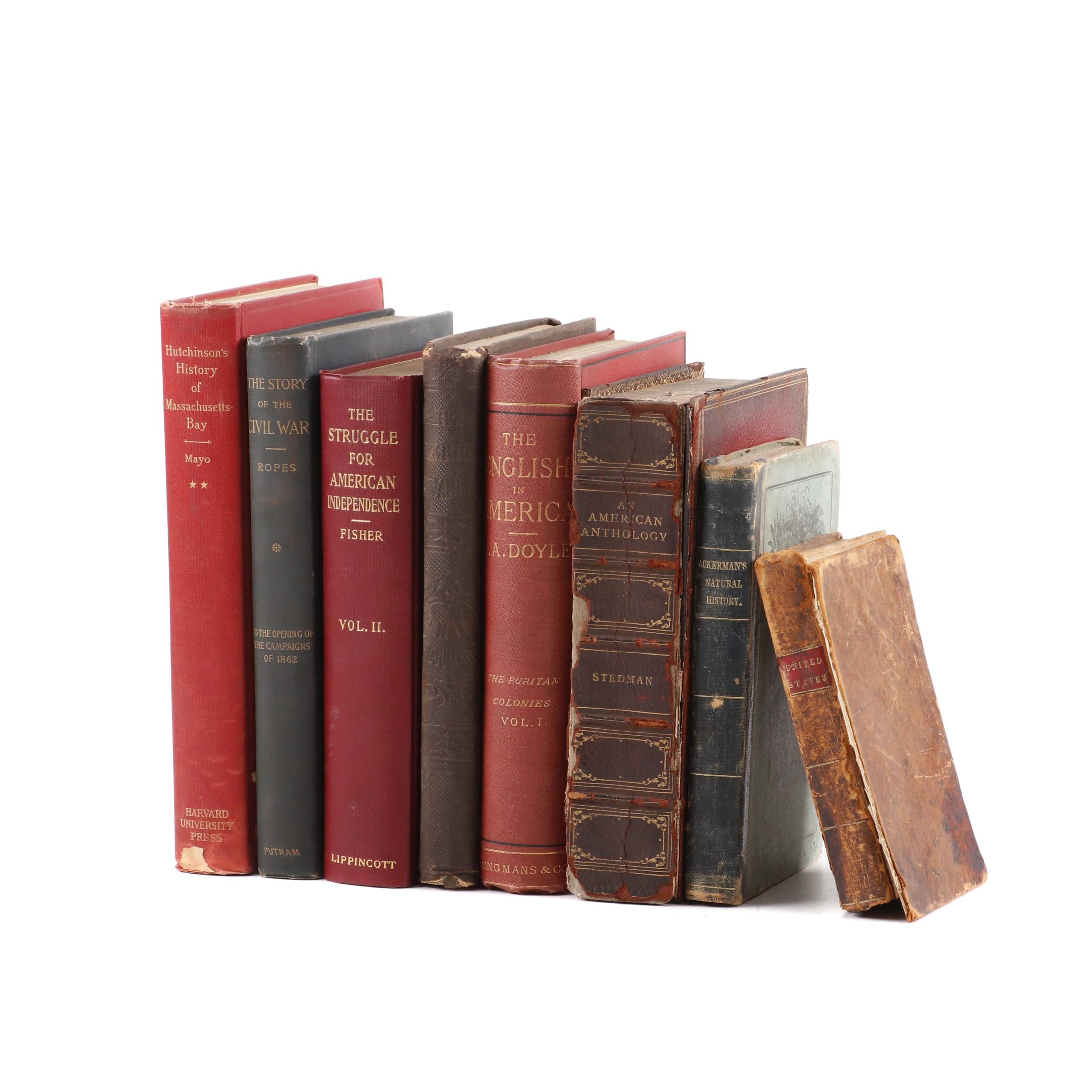 Antique American History Books