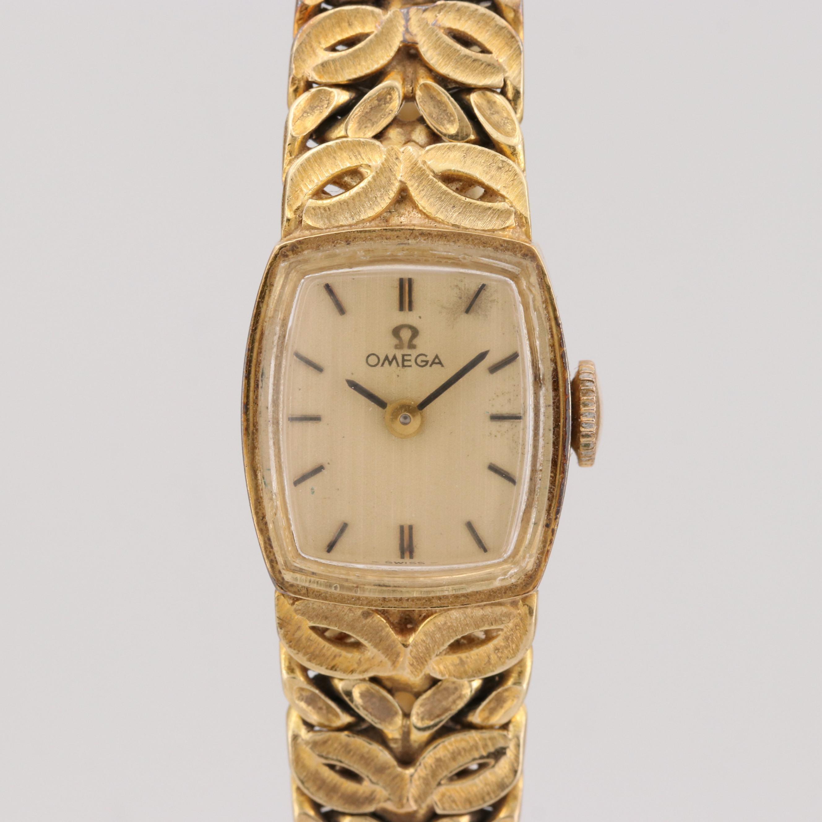 Omega 14K Yellow Gold Seventeen Jewel Wristwatch