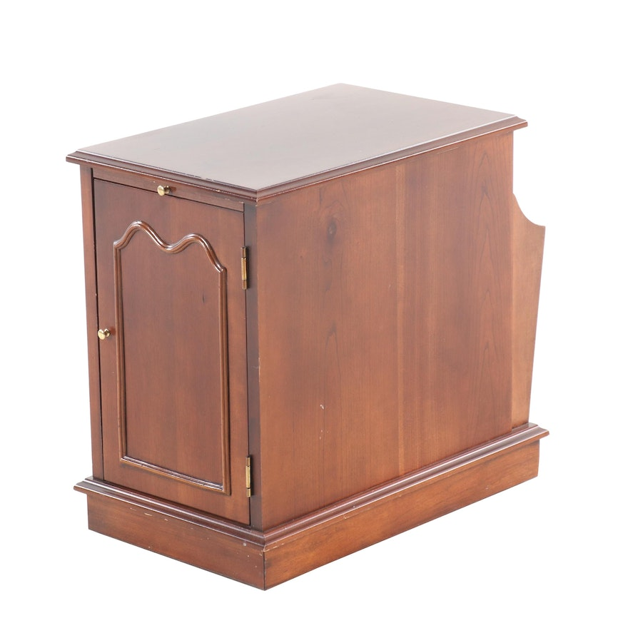Transitional Style Walnut Finish Wooden Side Table, Mid 20th-Century