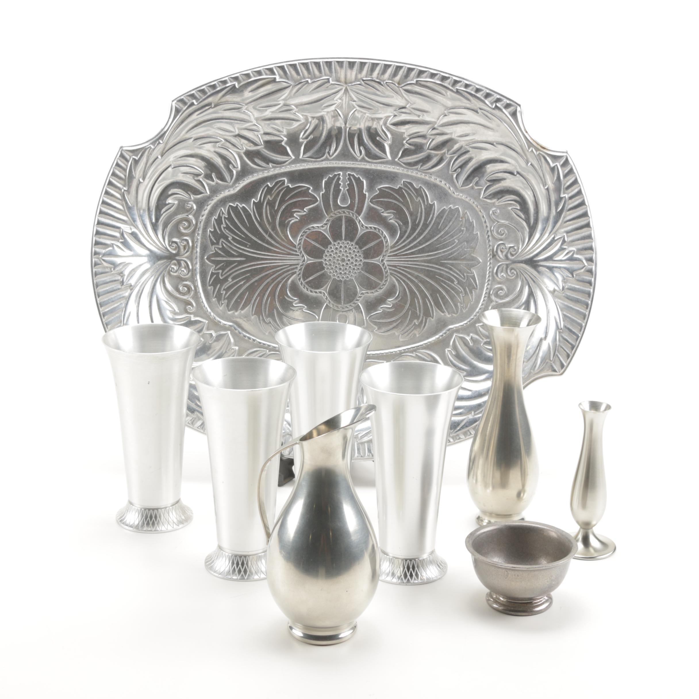 Aluminium and Pewter Serveware Featuring Wilton, Kensington, Daalderup
