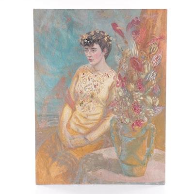 Ann Agee Portrait Oil Painting