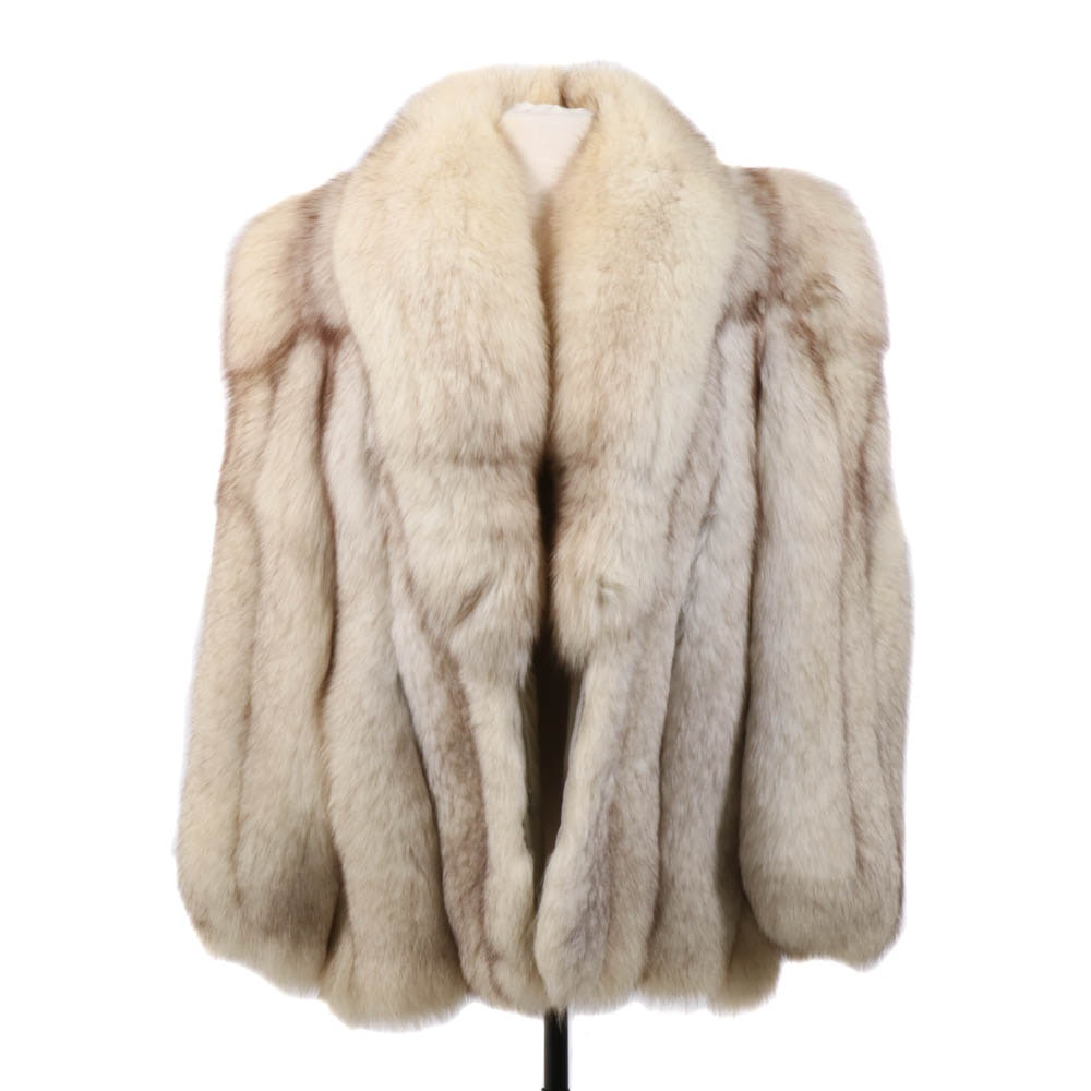Saga Fox Blue Fox Fur Jacket