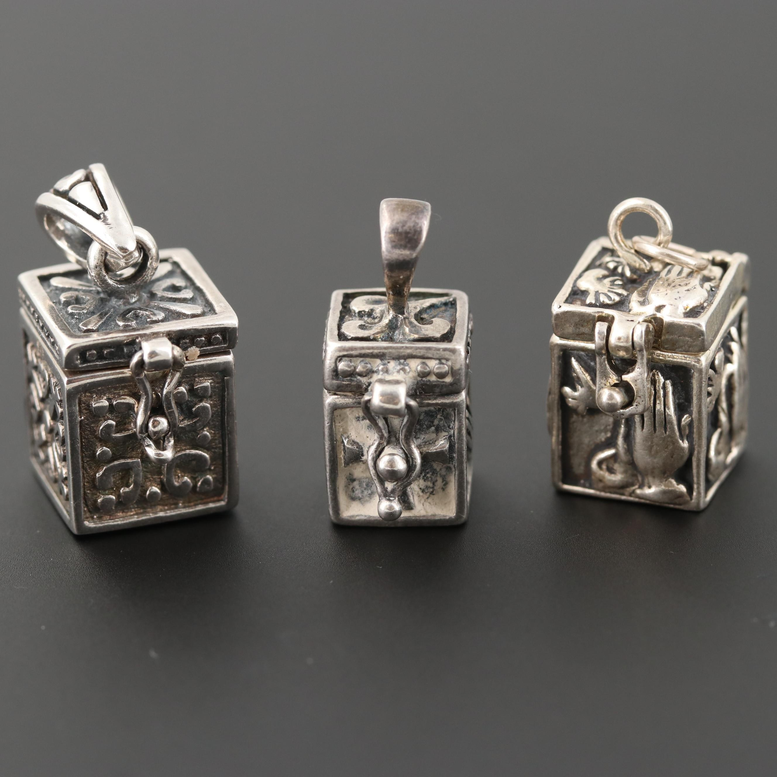 Sterling Silver Box Pendants