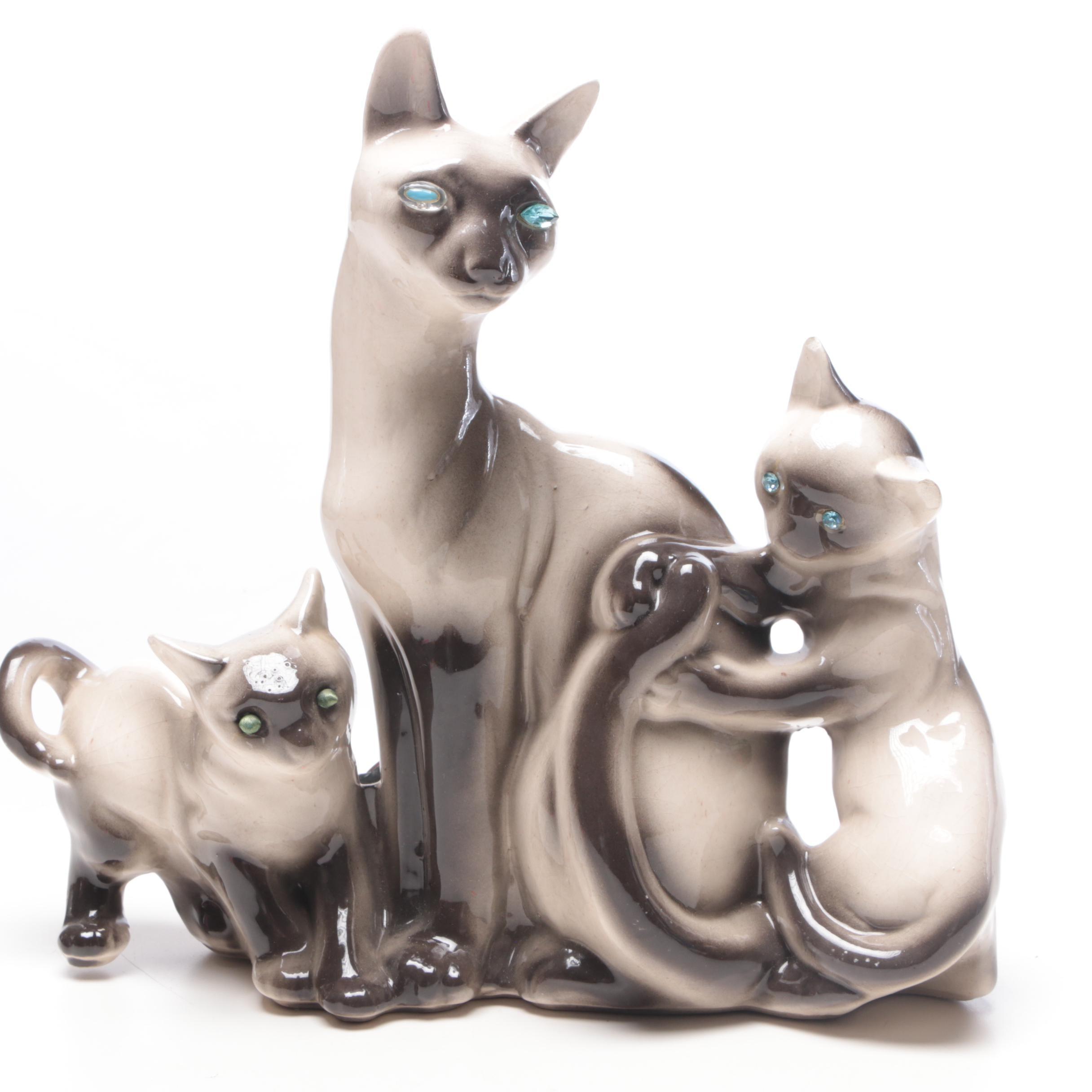 Kron Siamese Cat Television Lamp, Mid-Century