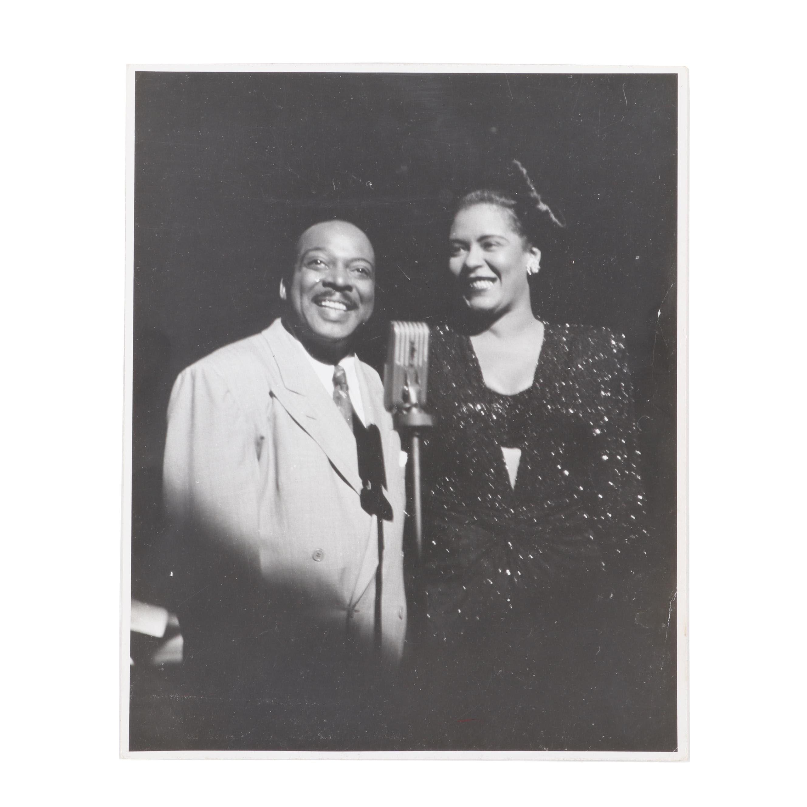 Billie Holiday & Count Basie Original 8x10 Stage Photo, Jack Bradley Estate