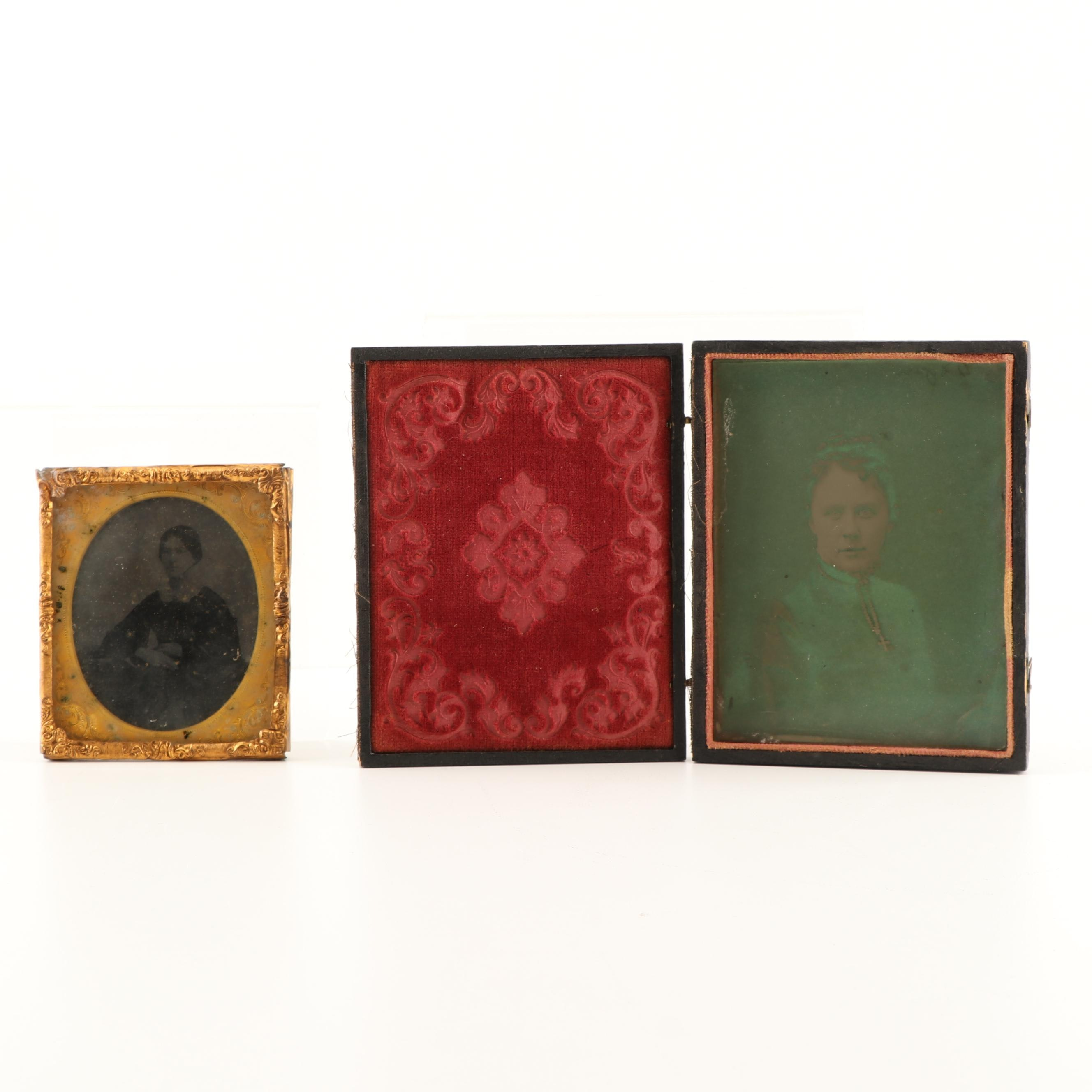 Tin Type Portrait Photographs, c. American Civil War