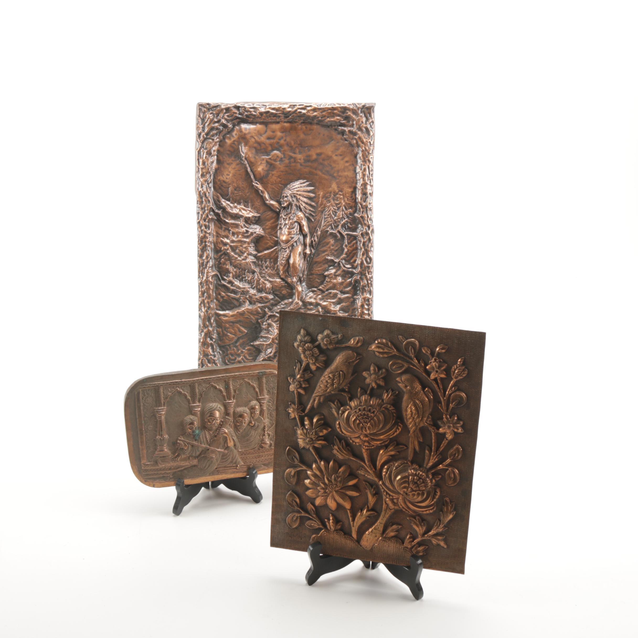 Repoussé Copper Panels