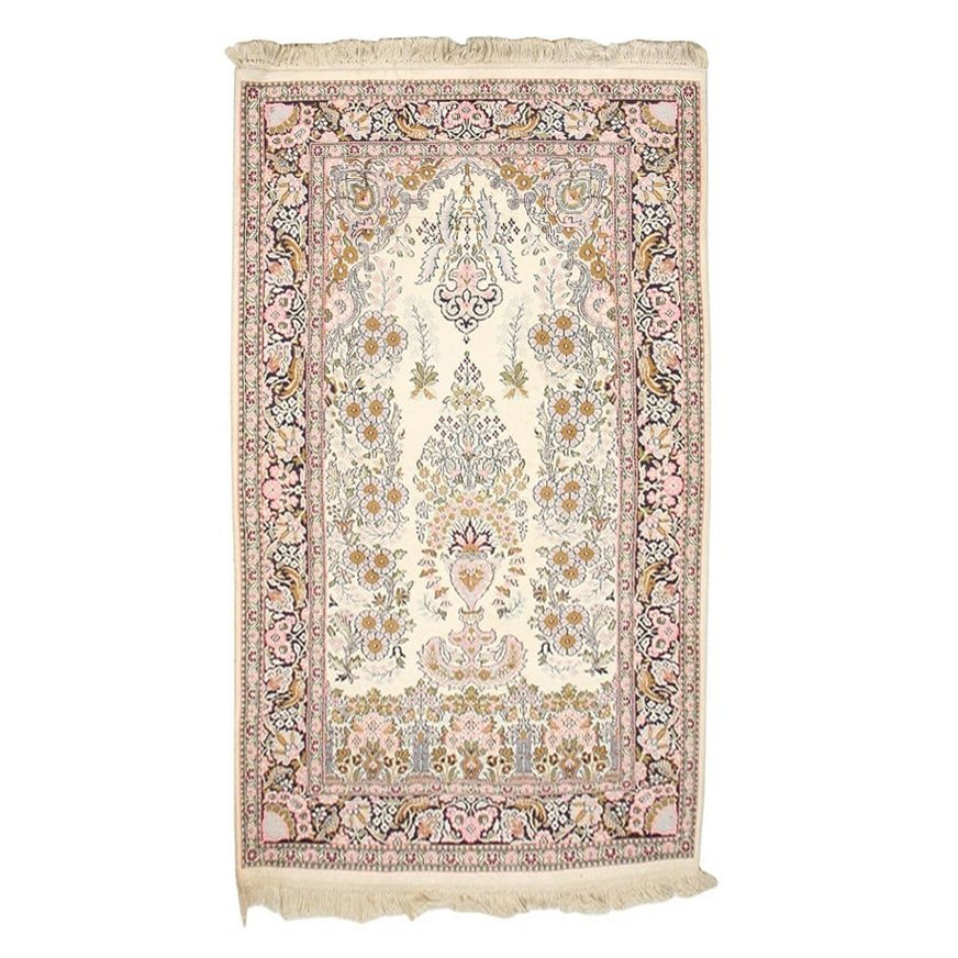 Hand-Knotted Indo-Persian Sarouk Style Wool Rug