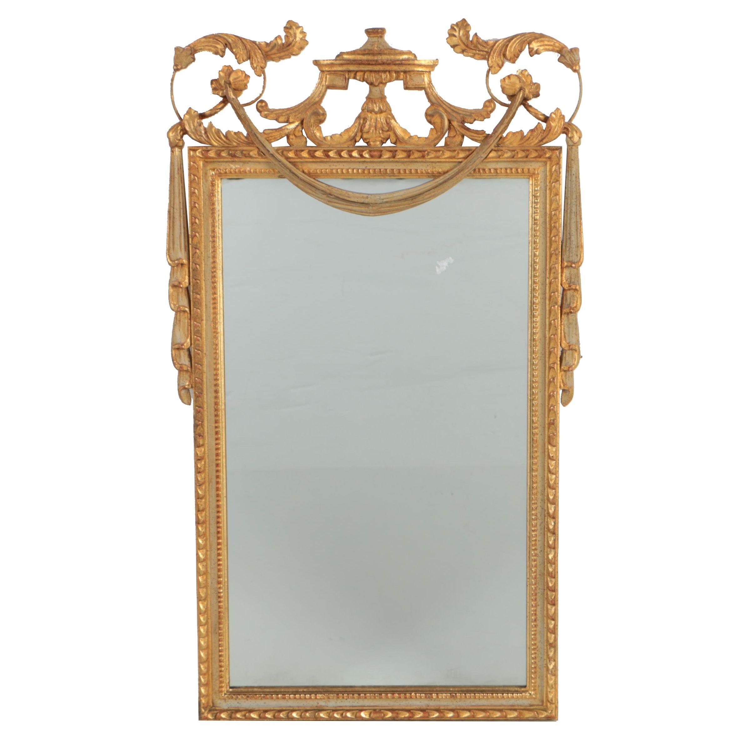 Louis XVI Style Gilt Wall Mirror