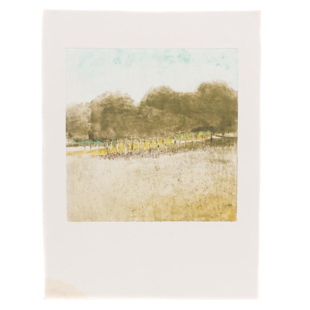 James Wilson Rayen Landscape Monotype