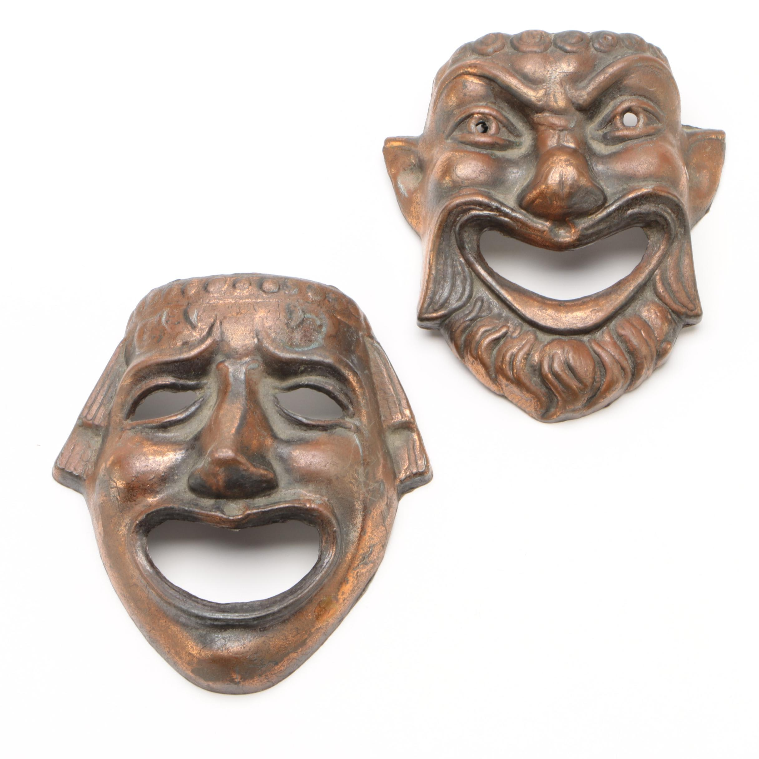 Comedy and Tragedy Decorative Wall Hanging Masks