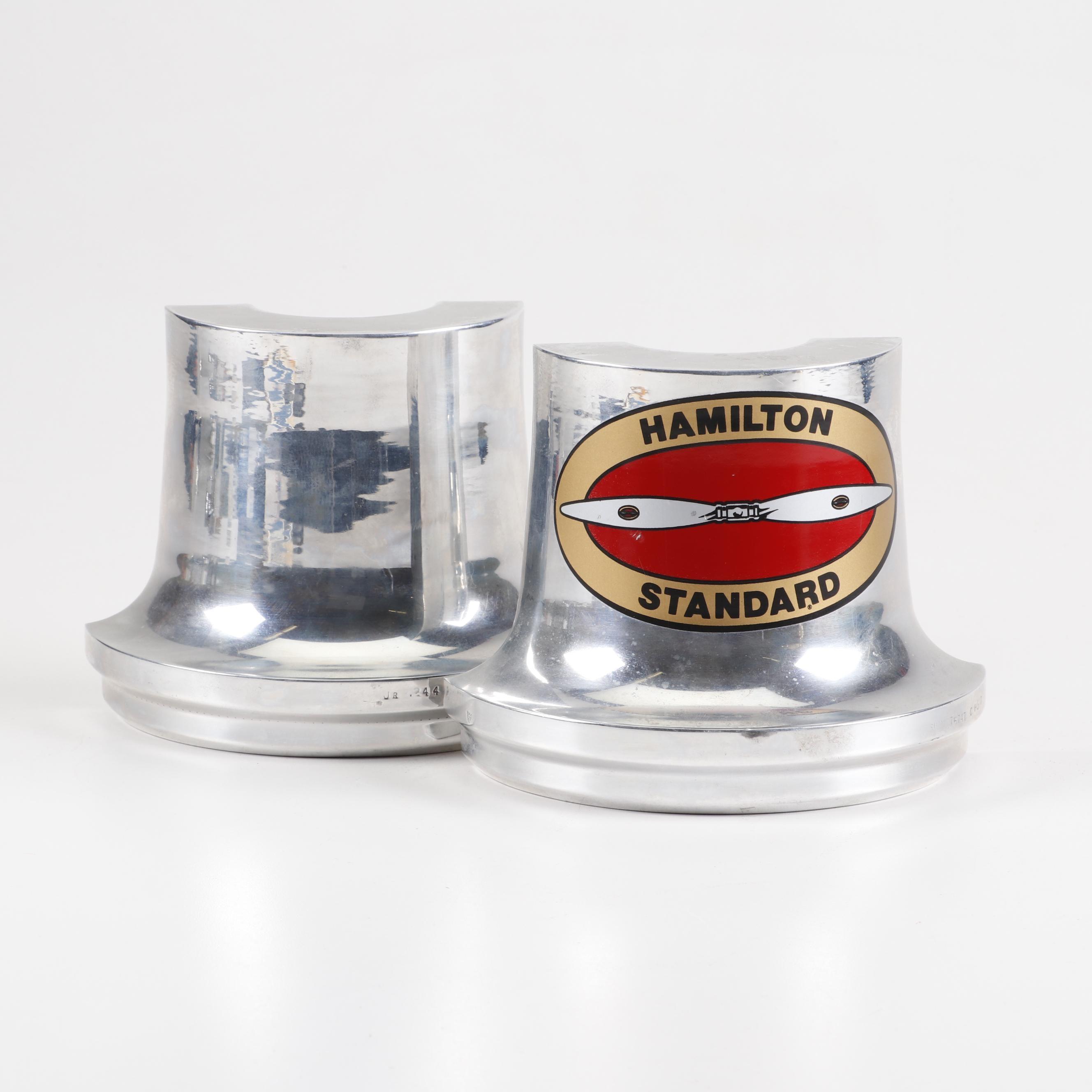 Hamilton Standard Propellor Company Metal Bookends