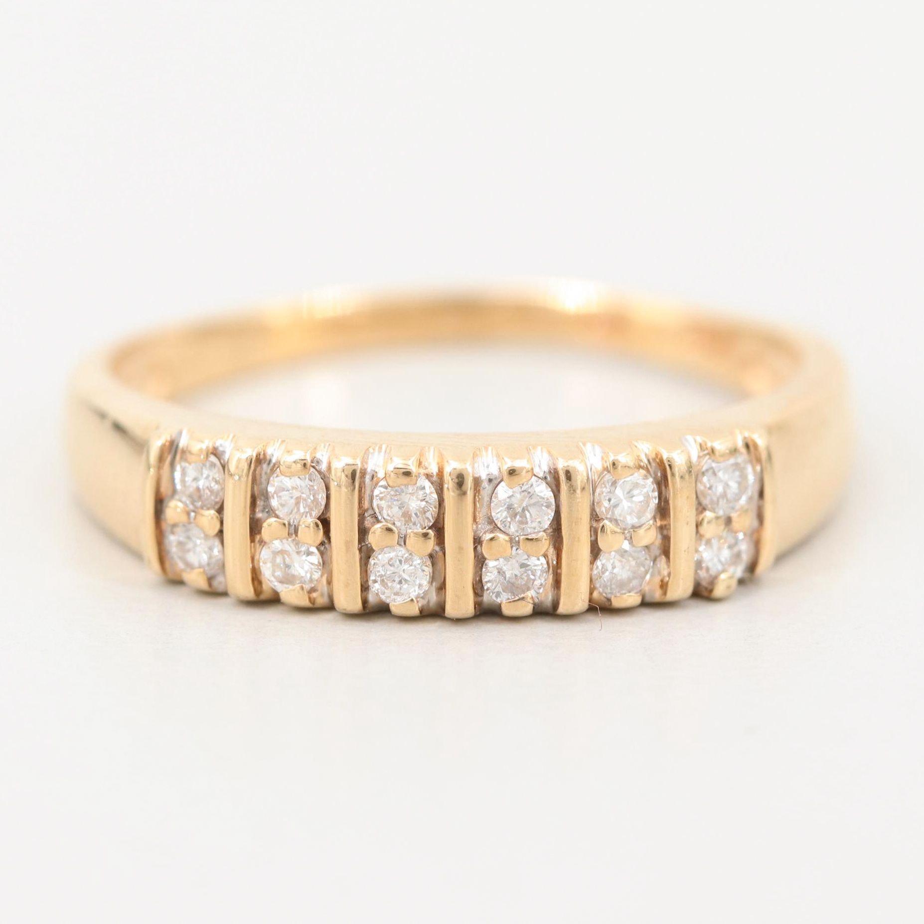 14K Yellow Gold Diamond Ring
