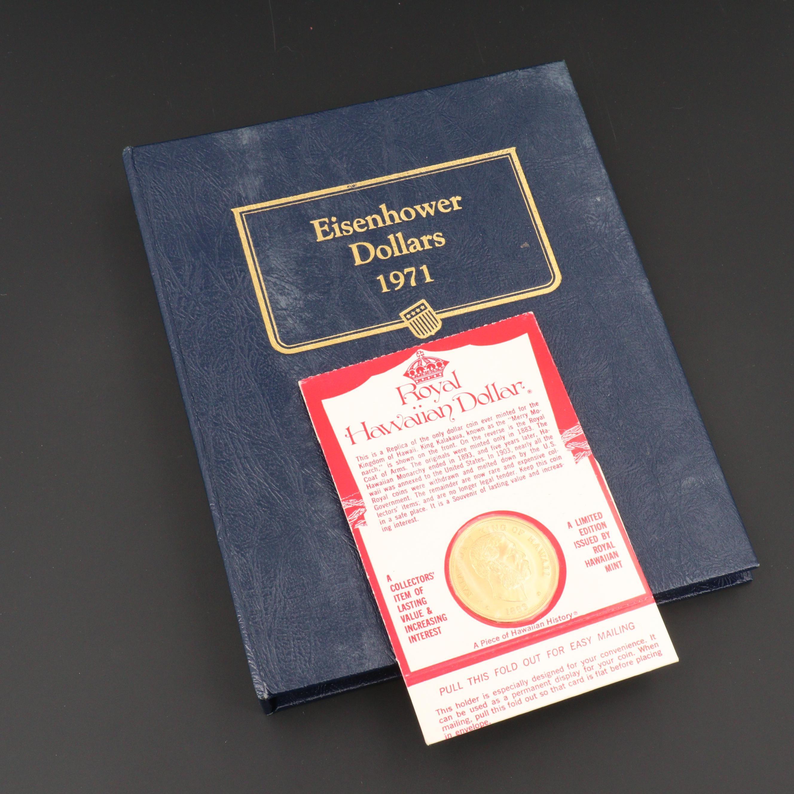 Whitman Binder of Eisenhower Dollars