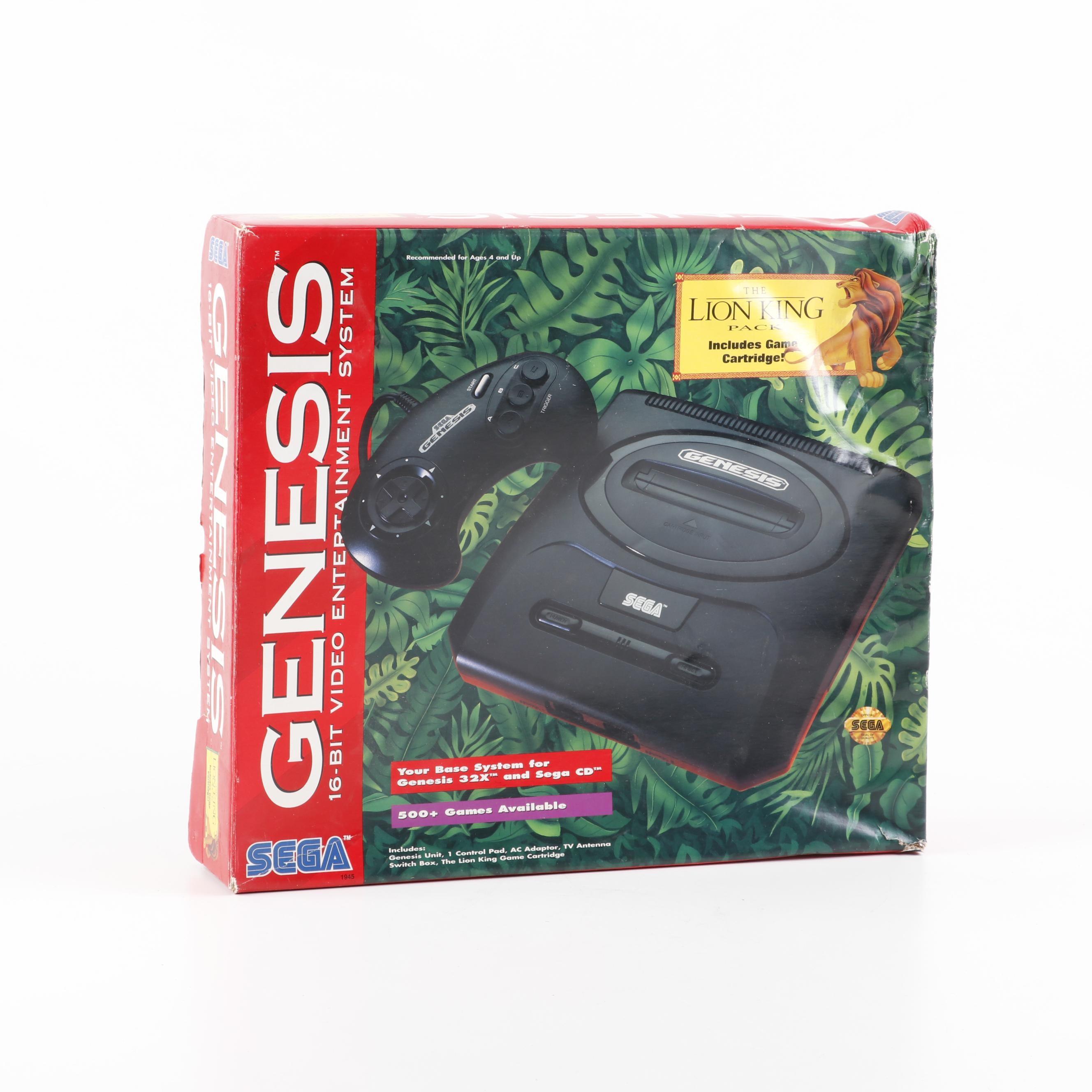 Sega Genesis 16-Bit Video Game with Lion King Pack