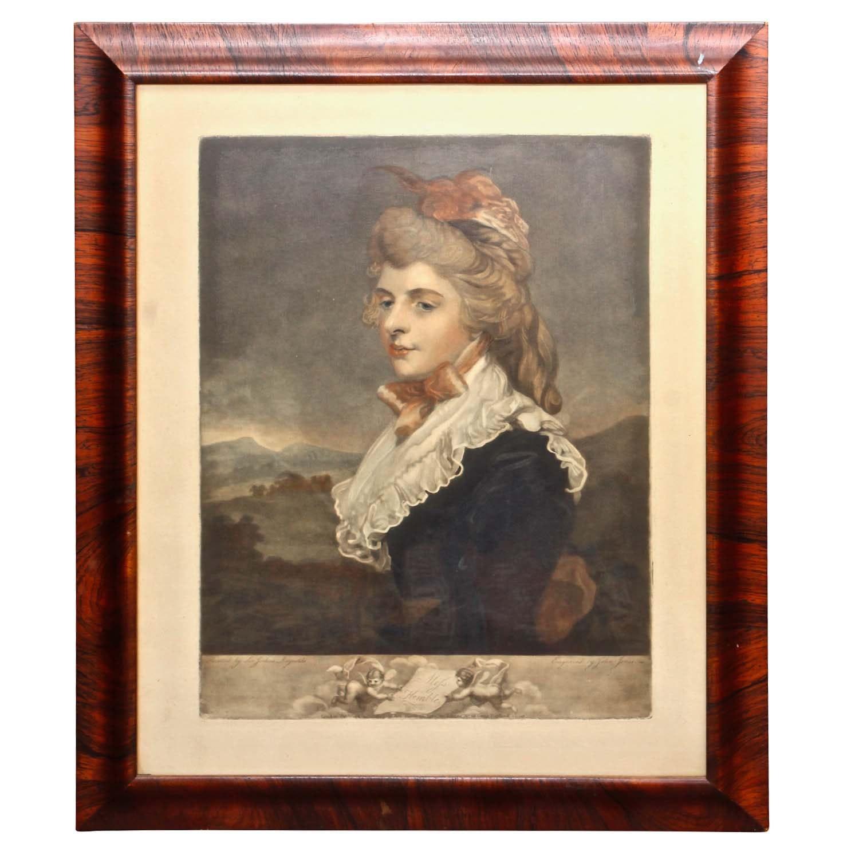 "John Jones Engraving After Sir Joshua Reynolds ""Miss Kemble"""