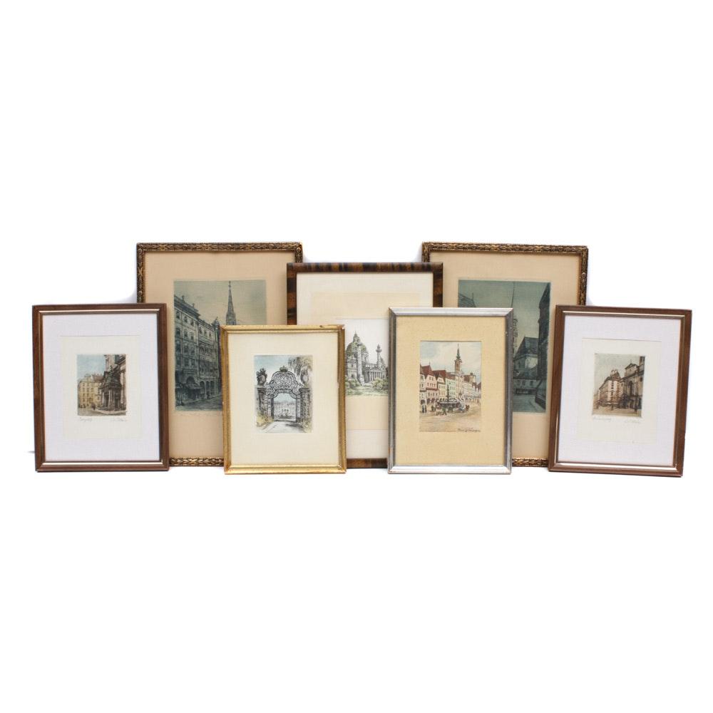 Mid 20th Century European Architectural Prints