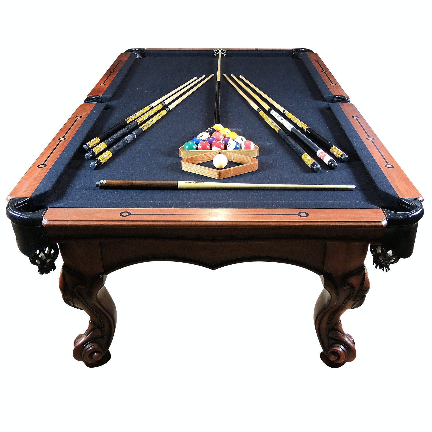 "Peter Vitalie Company ""Gore Gulch"" Collection Billiard Table and Accessories"