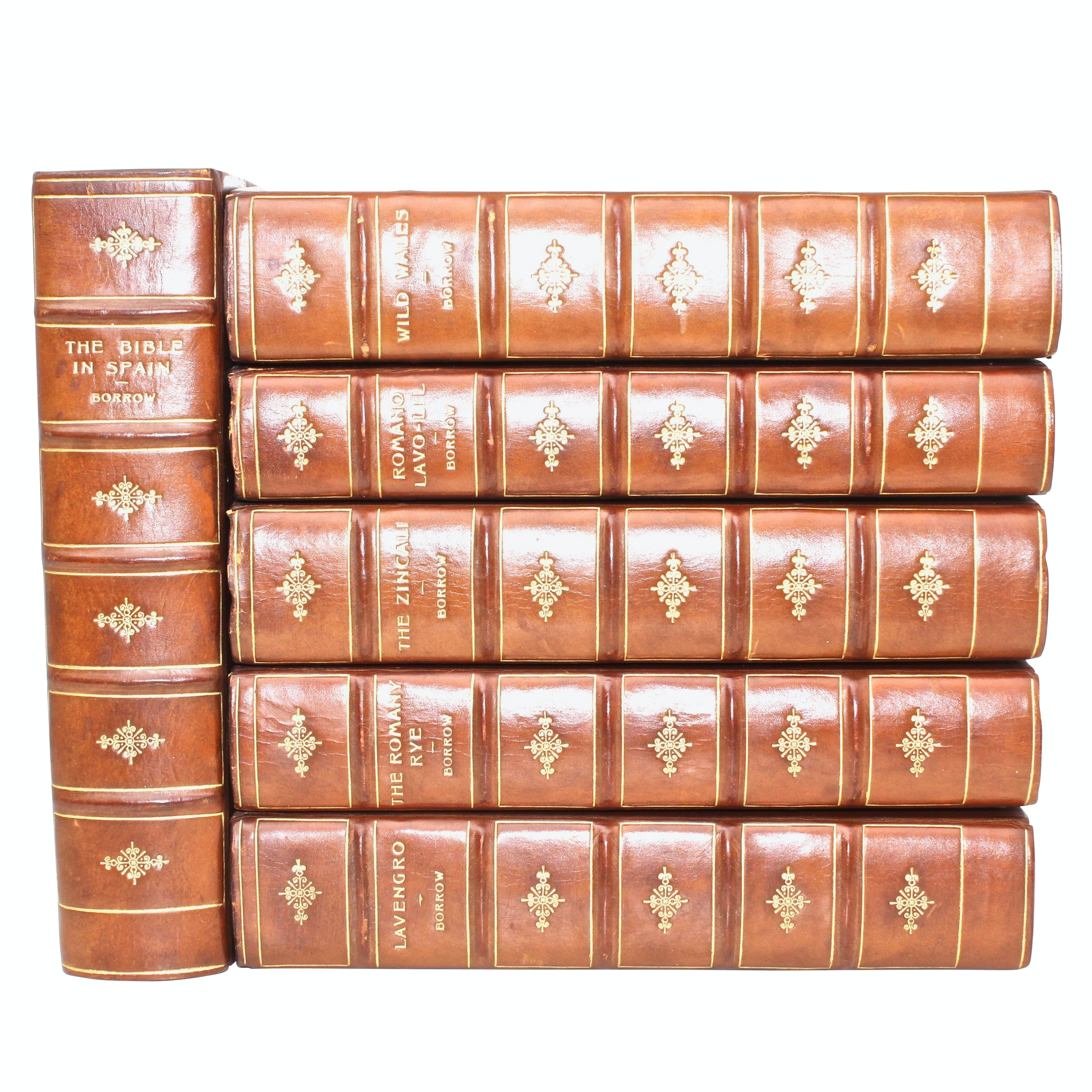 """The Bible in Spain"" and ""Lavengro"" by George Borrow, 6 Volumes"