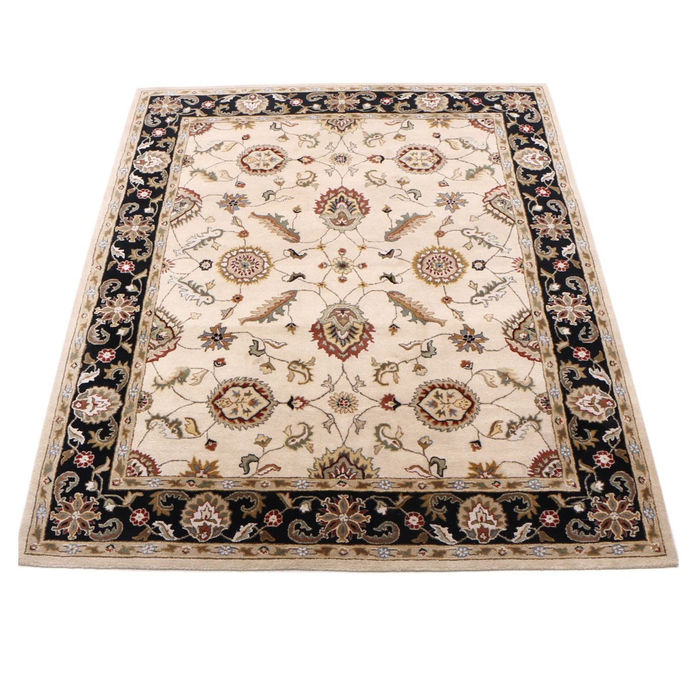 "Tufted Indian Jaipur ""Elena"" Room-Sized Rug"