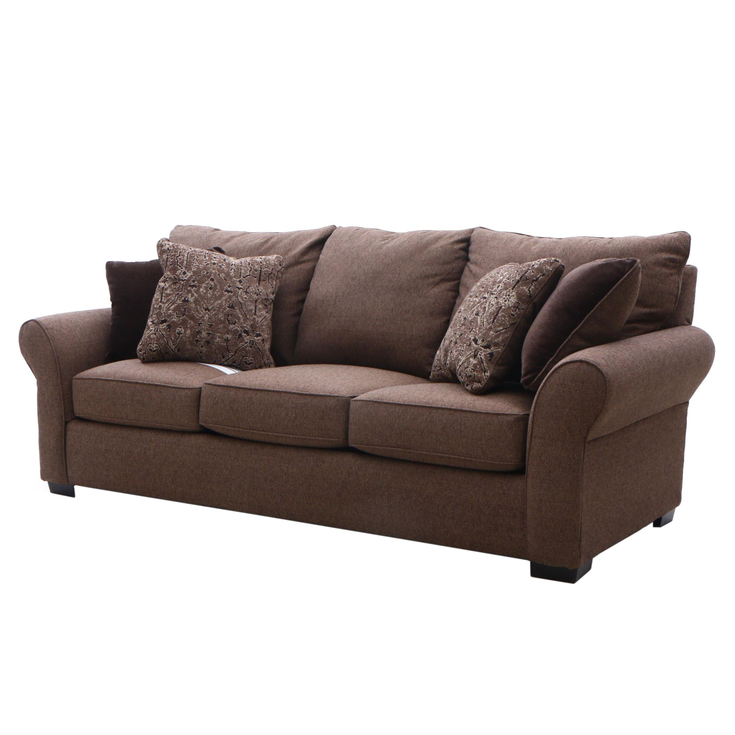 Contemporary Upholstered Sofa with Accent Pillow by Jackson Furniture