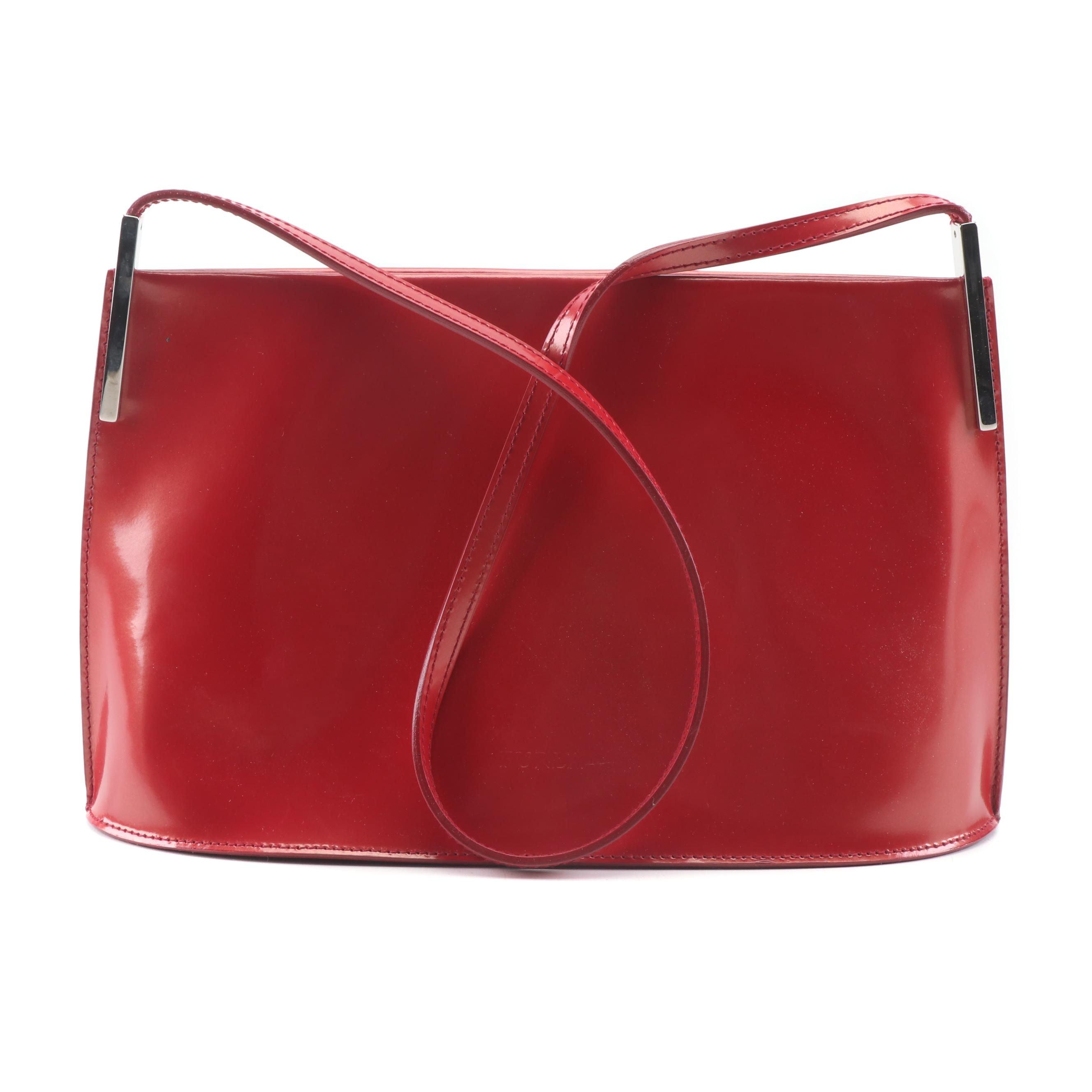 Furla Red Patent Leather Shoulder Bag