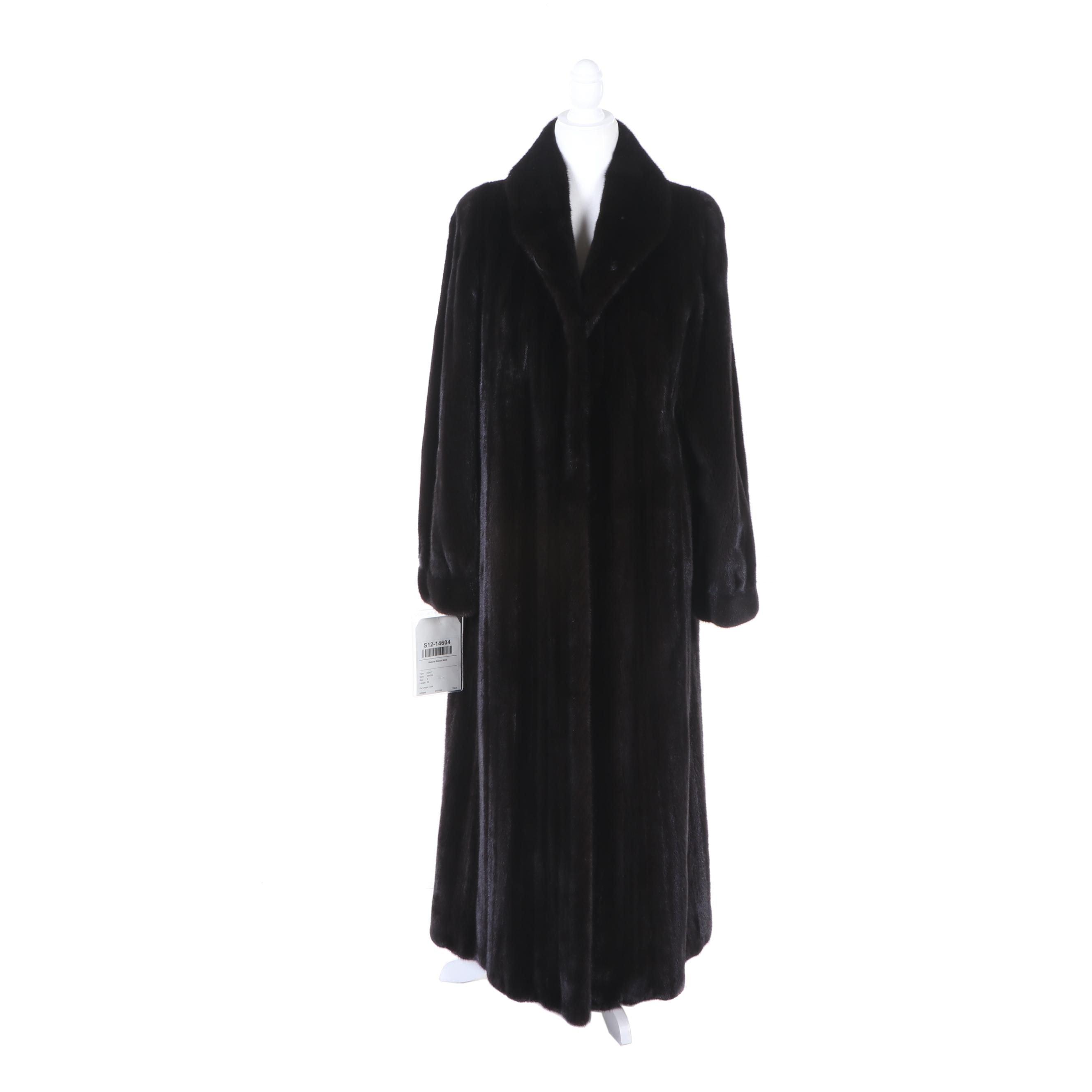 Women's Natural Ranch Mink Fur Full-Length Coat