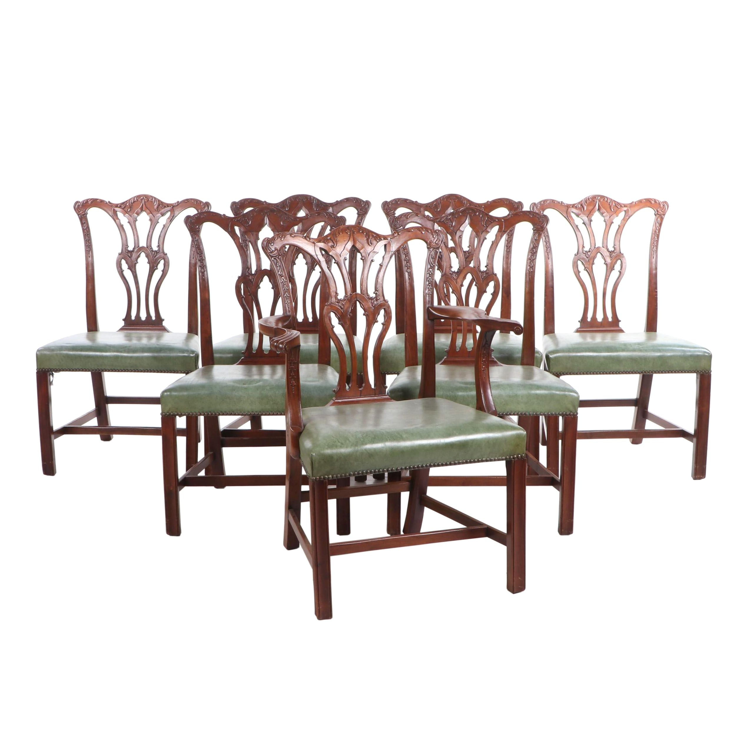 George III, Chippendale Style Mahogany Dining Chairs, Late 18th Century