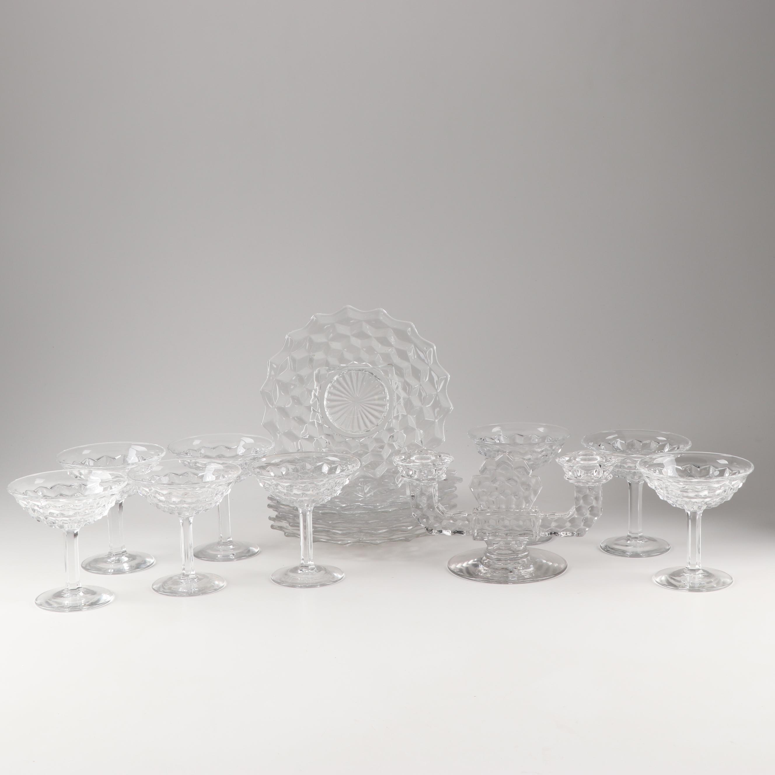 "Fostoria ""American Clear"" Glass Stemware and Tableware"