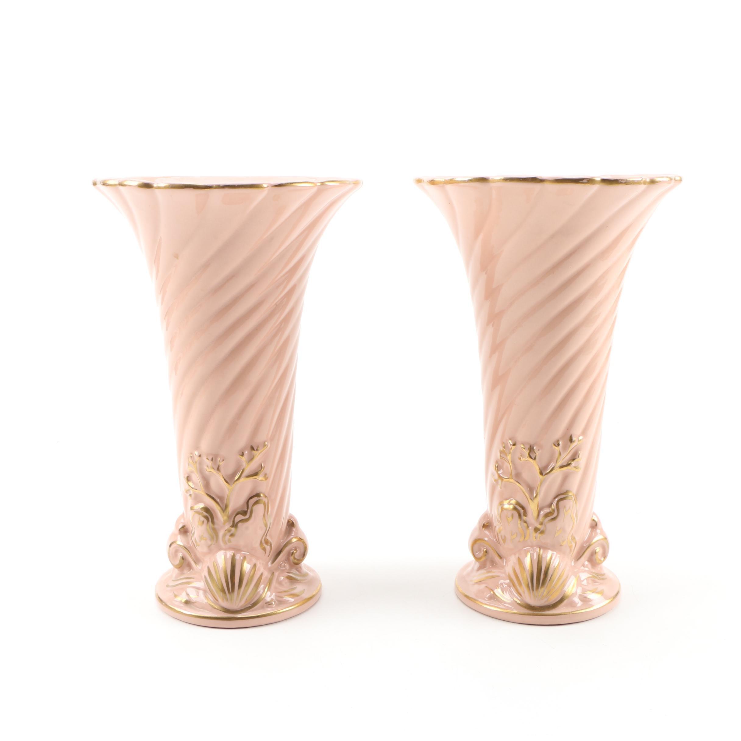 Pair of American Ceramic Vases, Mid-Century