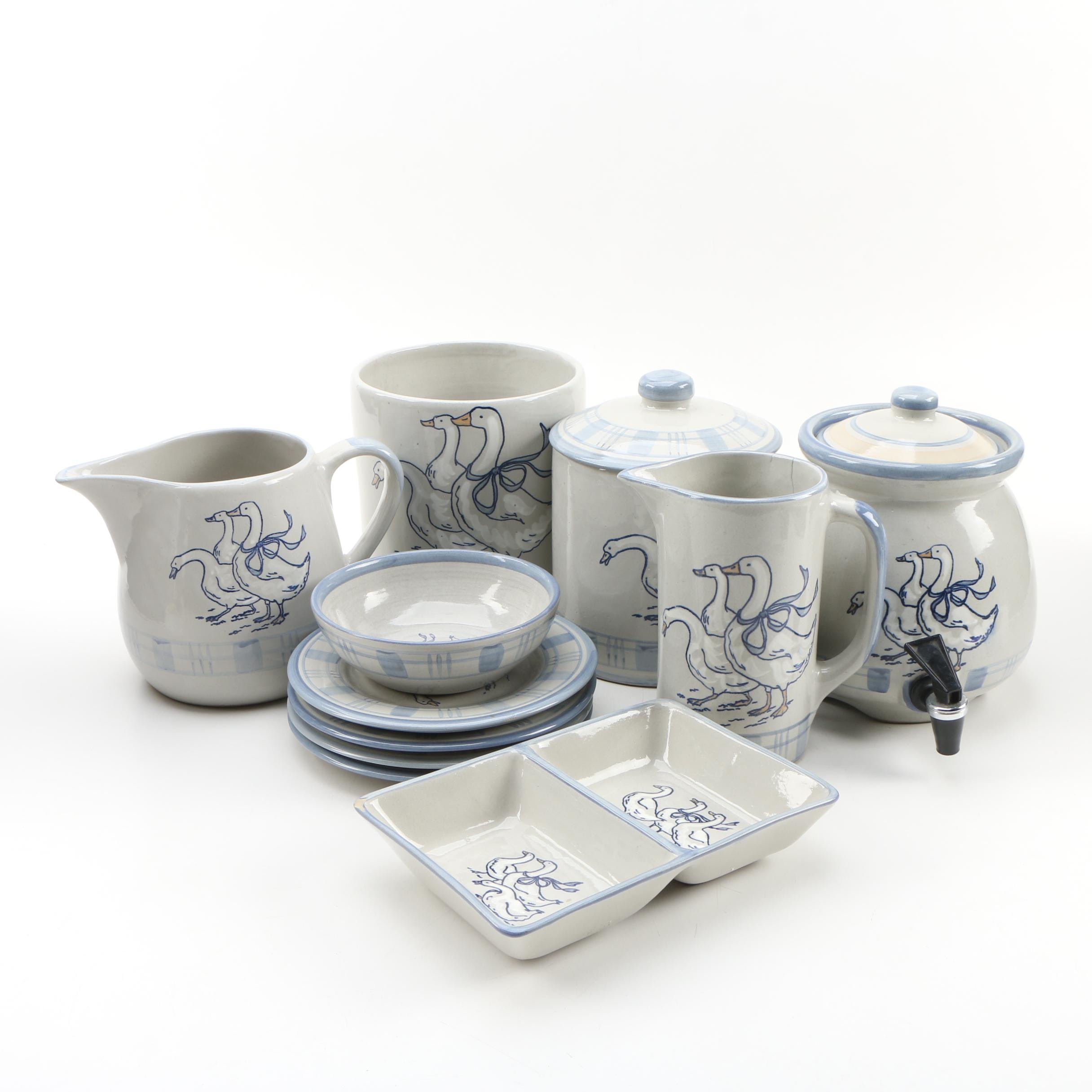"""Louisville Stoneware """"Gaggle of Geese"""" Serveware and More"""