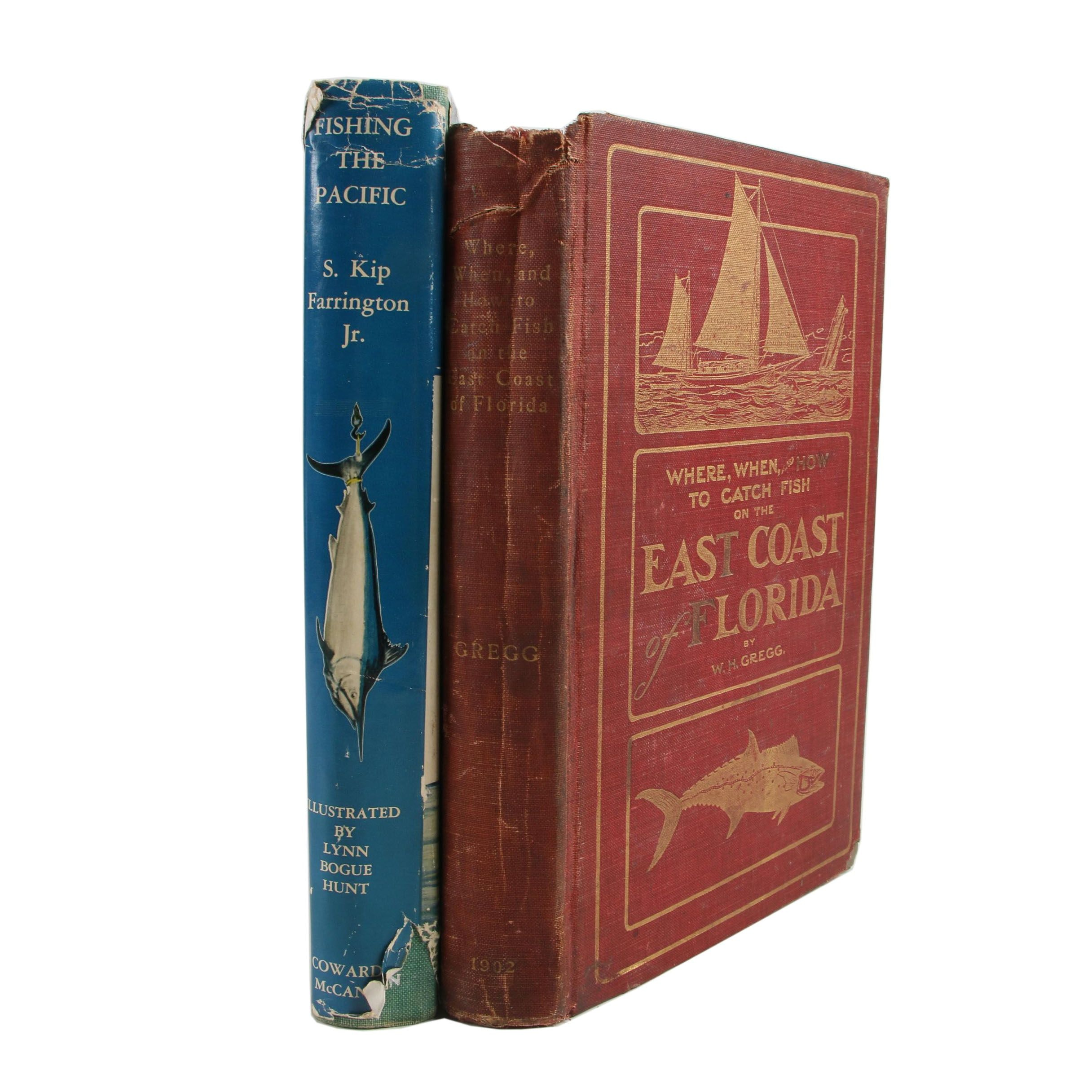 """Game Fishing Books featuring """"Fishing the Pacific"""" by S. Kip Farrington, Jr."""