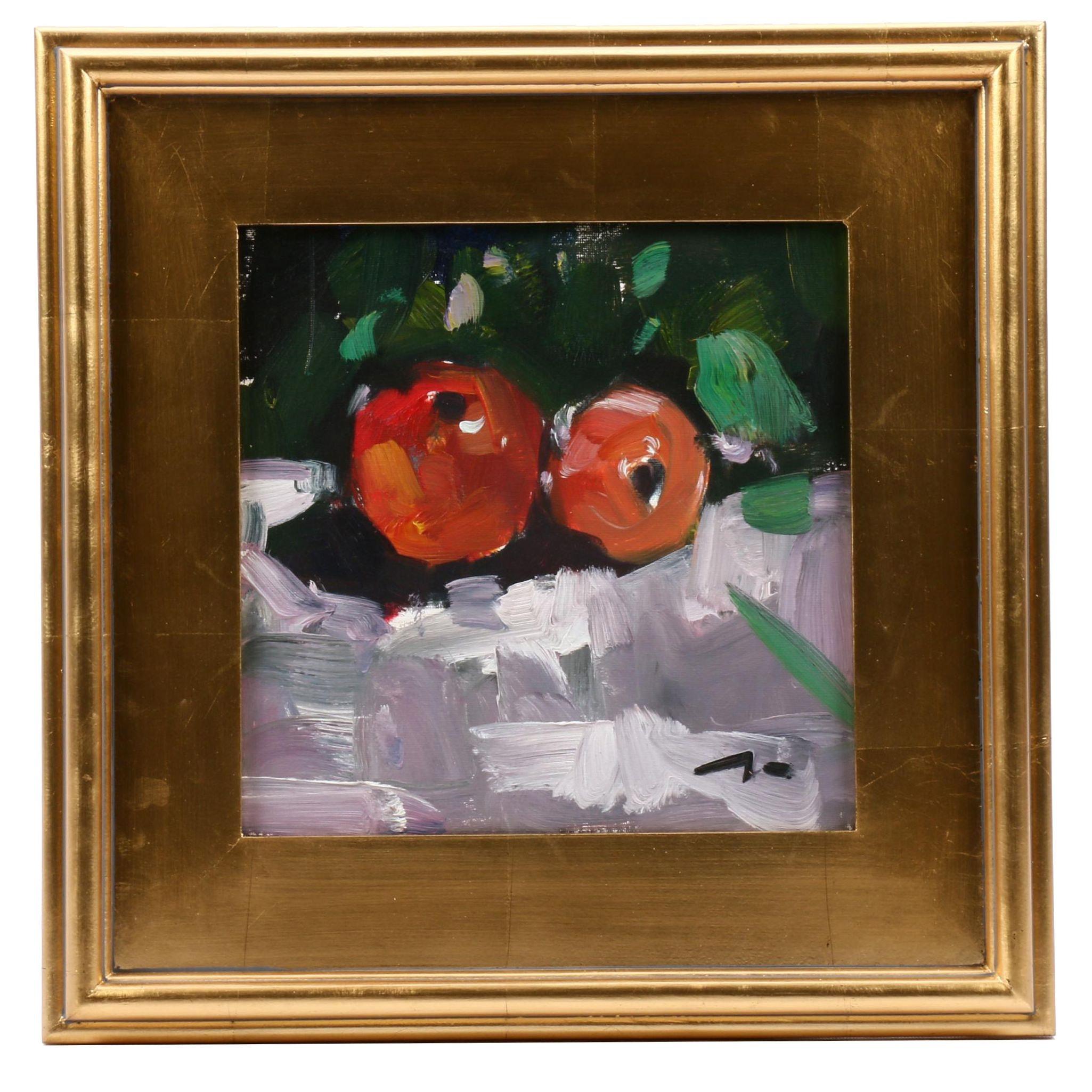 "Jose Trujillo Oil Painting ""Still Life Fruit"""