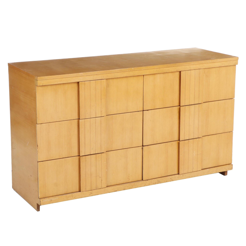 Mid Century Modern Blonde Wood Dresser, 1950s