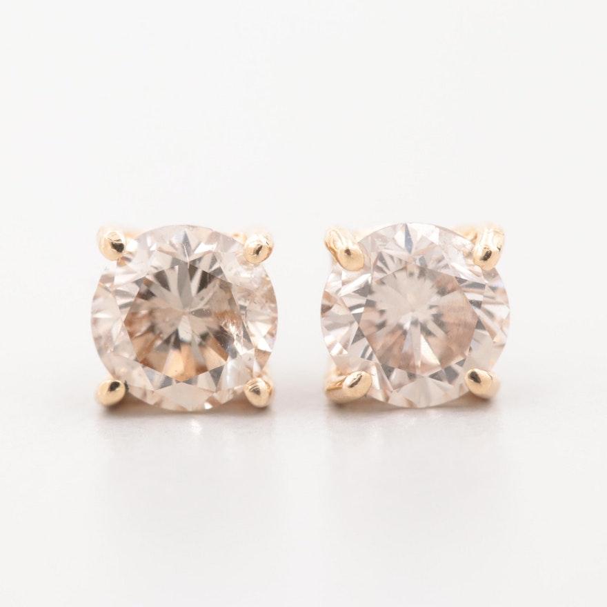 cc2f85acd 14K Yellow Gold Diamond Stud Earrings   EBTH